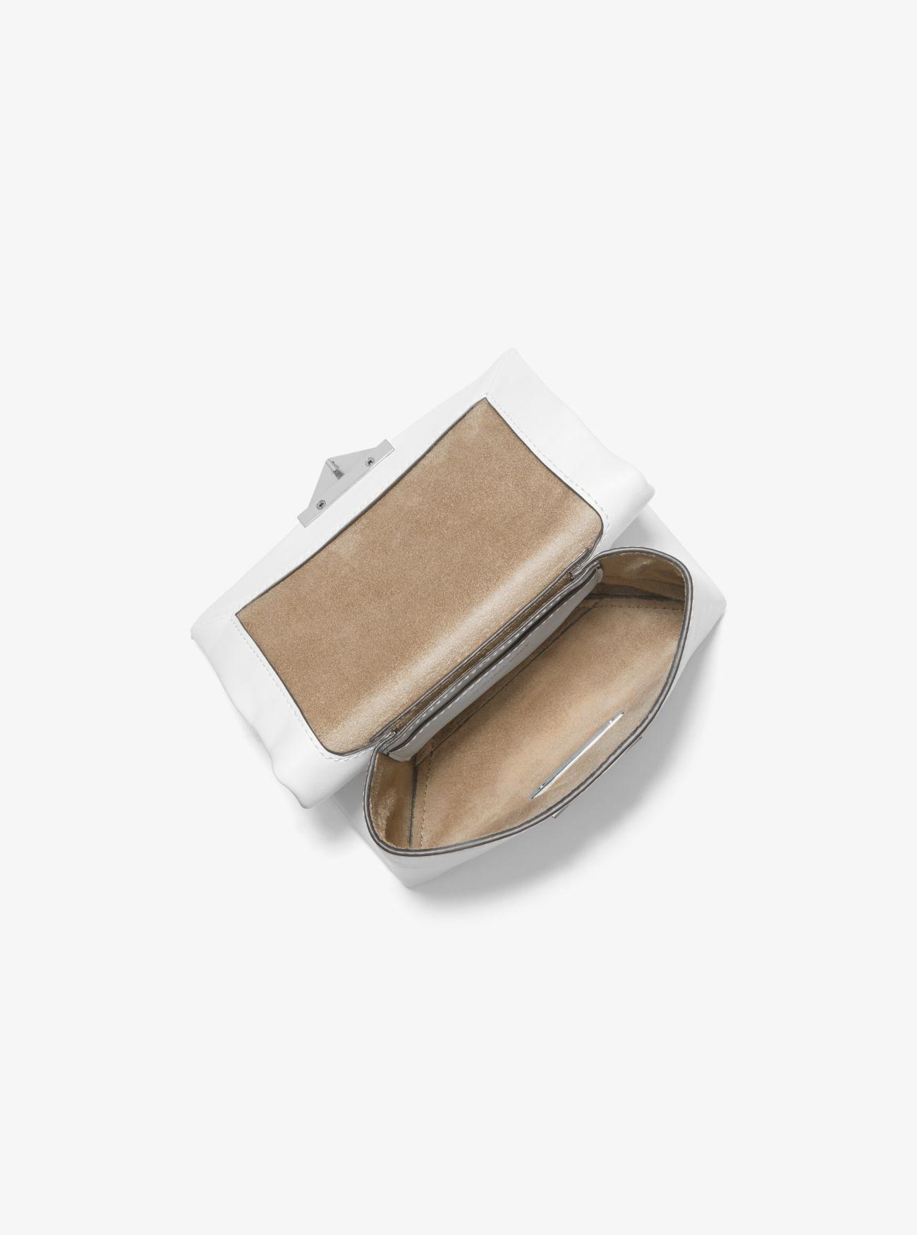 4f16099dc955 MICHAEL Michael Kors - White Cece Xs Chain Crossbody Bag In Cream Polished  Leather - Lyst. View fullscreen