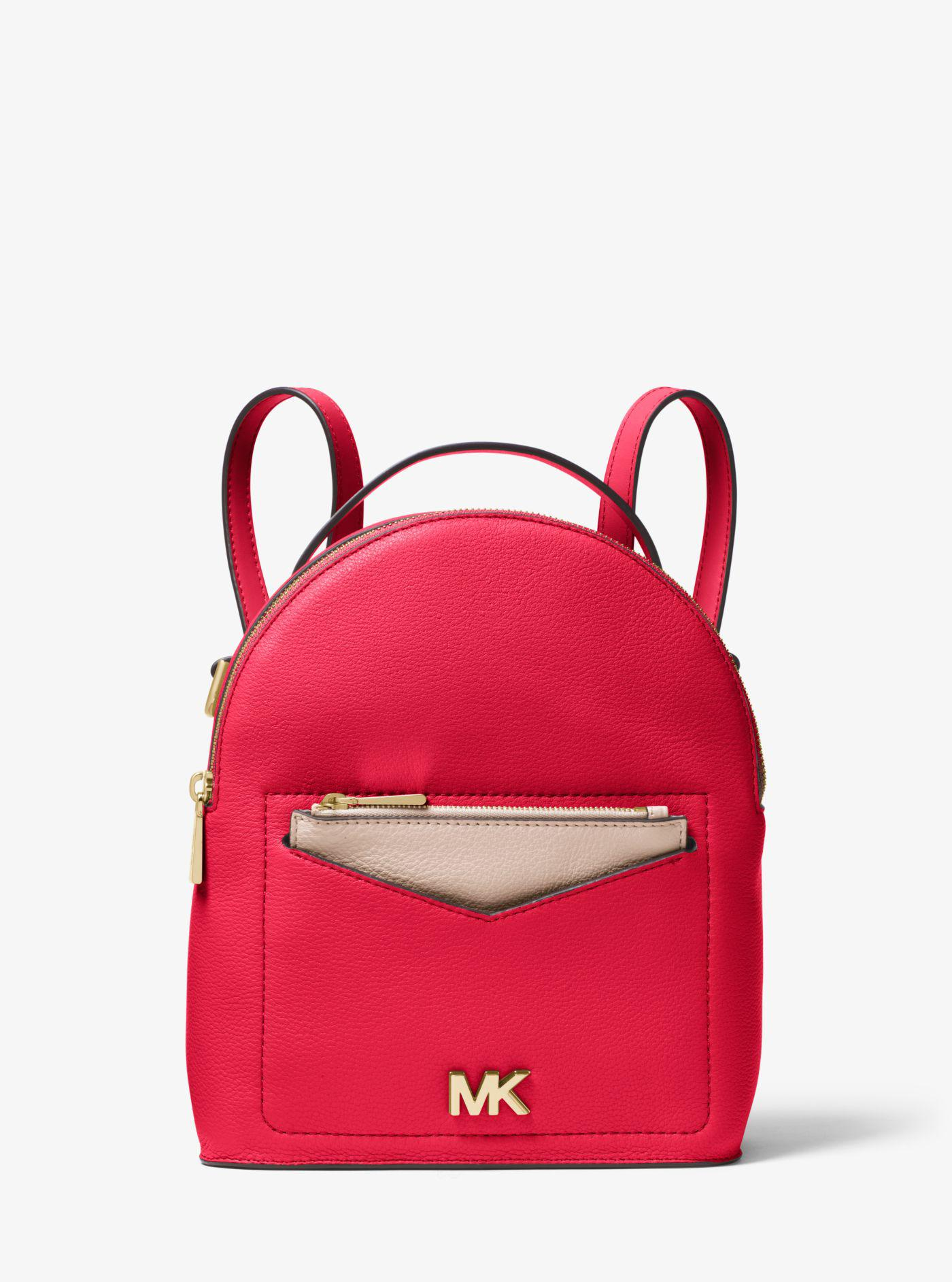 e5708c0a4bf6 Michael Kors Jessa Small Pebbled Leather Convertible Backpack in ...