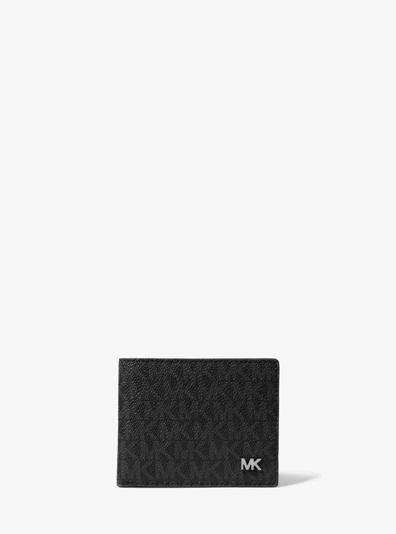 f03492d59a24 Lyst - Michael Kors Jet Set Logo Billfold Wallet in Black for Men