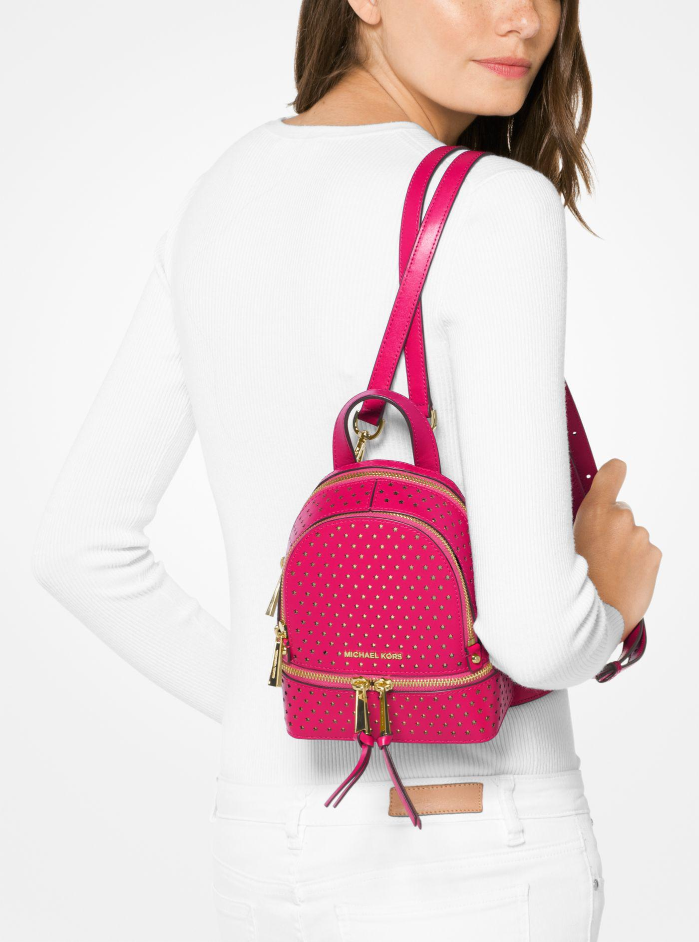 de69c180ba81 switzerland michael kors rhea perforated backpack fe643 de303