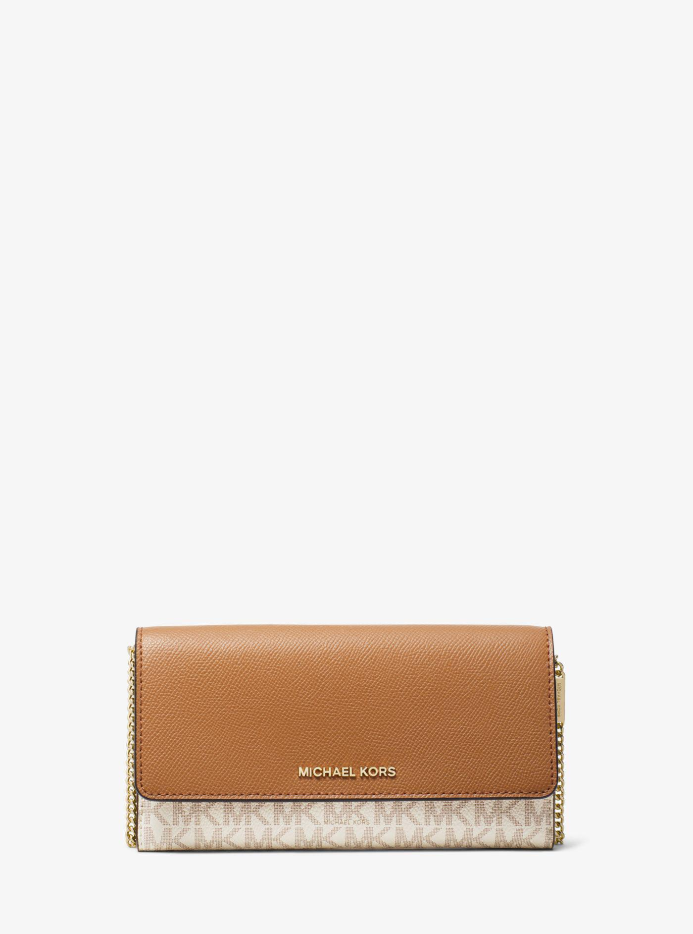 c17f13e5b39f Michael Kors - Multicolor Large Logo And Leather Convertible Chain Wallet -  Lyst. View fullscreen