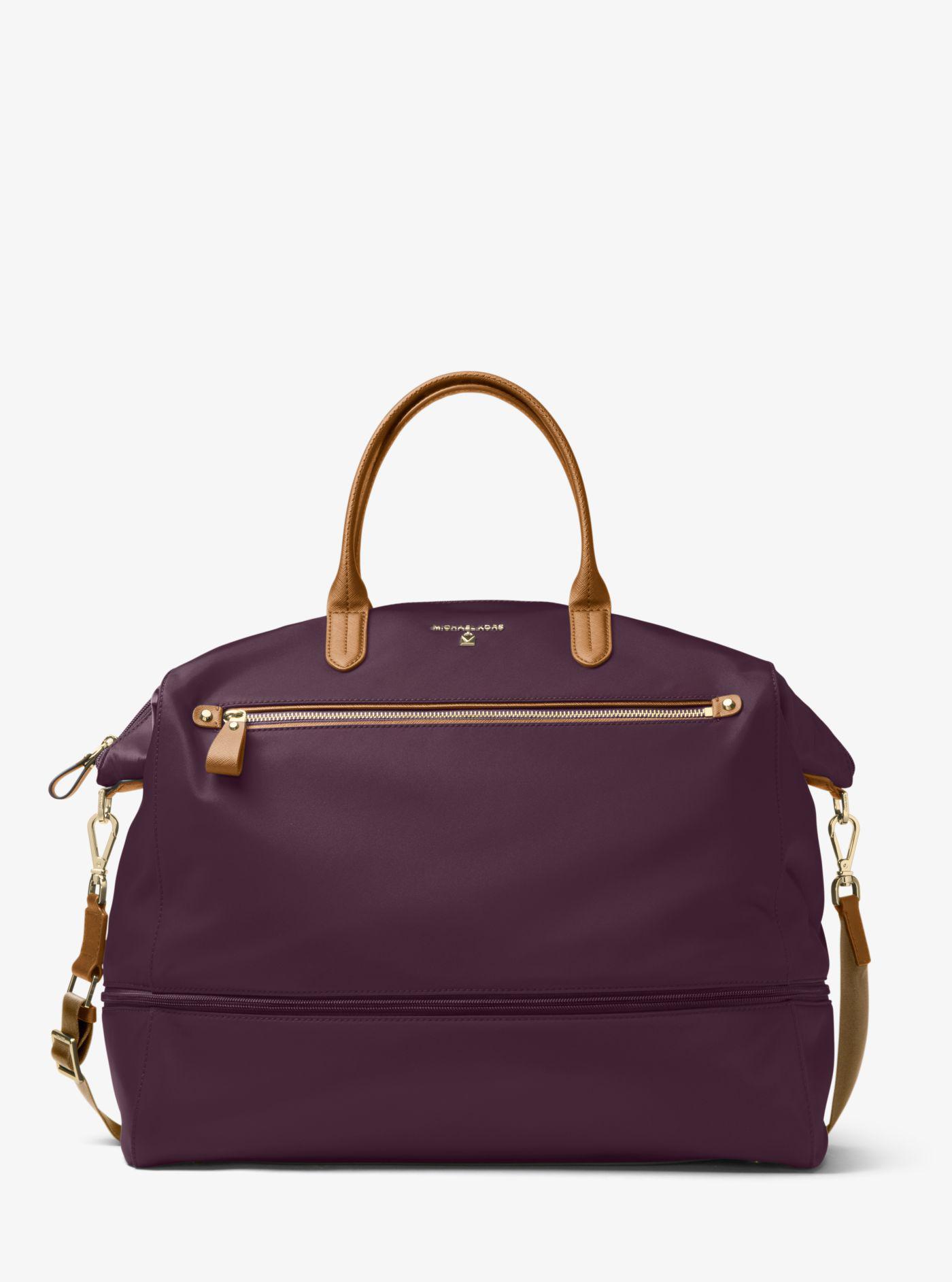 137fdf52df431c Michael Kors Kelsey Nylon Travel Tote in Purple - Lyst