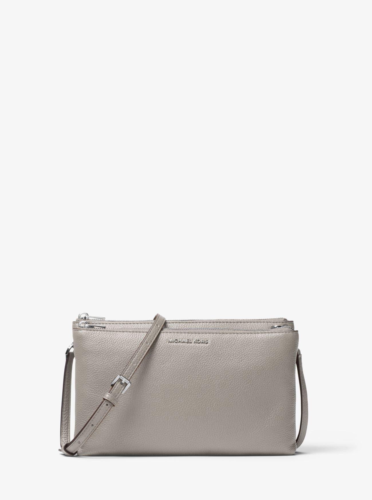 a3a753ec62d452 Michael Kors - Gray Adele Leather Crossbody Bag - Lyst. View fullscreen