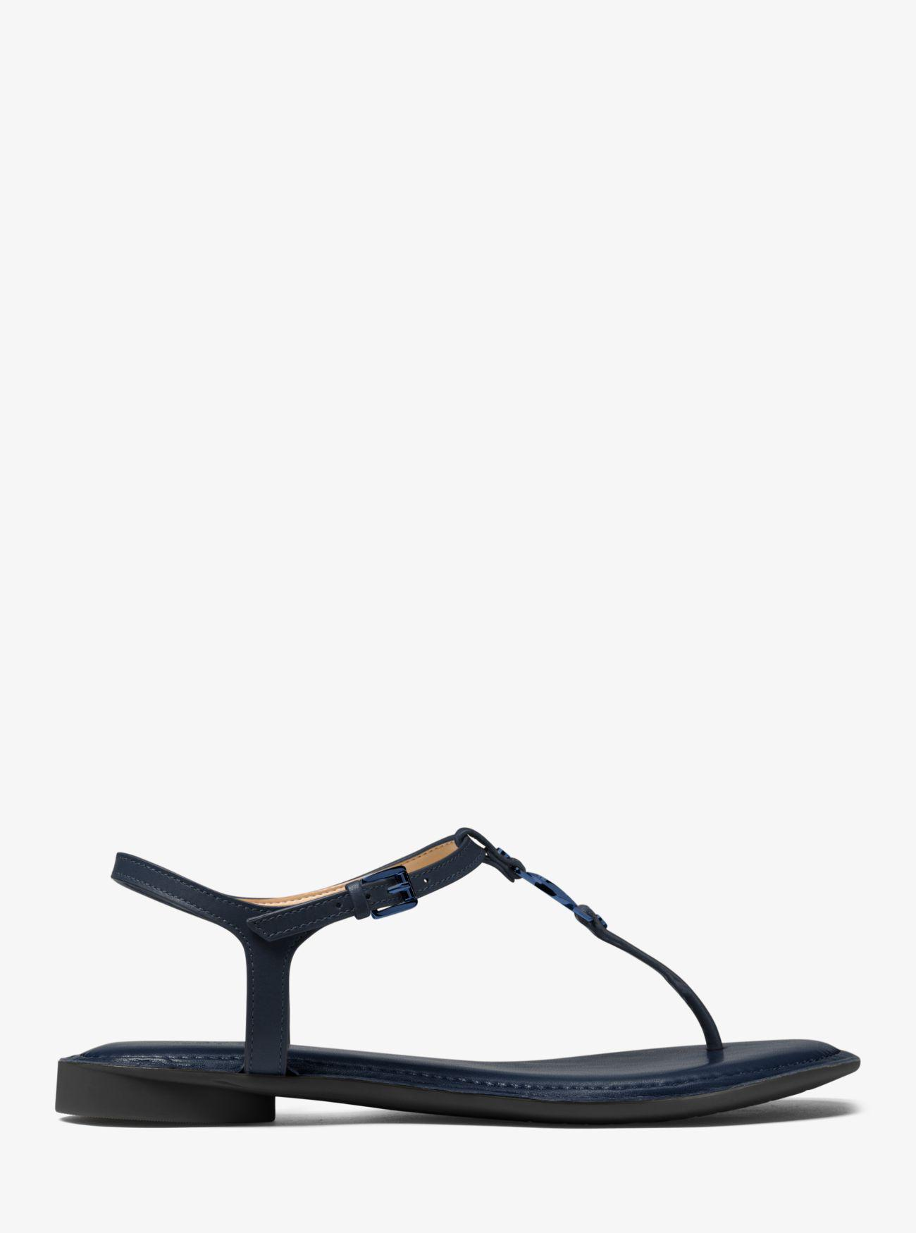 75ab1189231 Michael Kors Bethany Leather Thong - Lyst