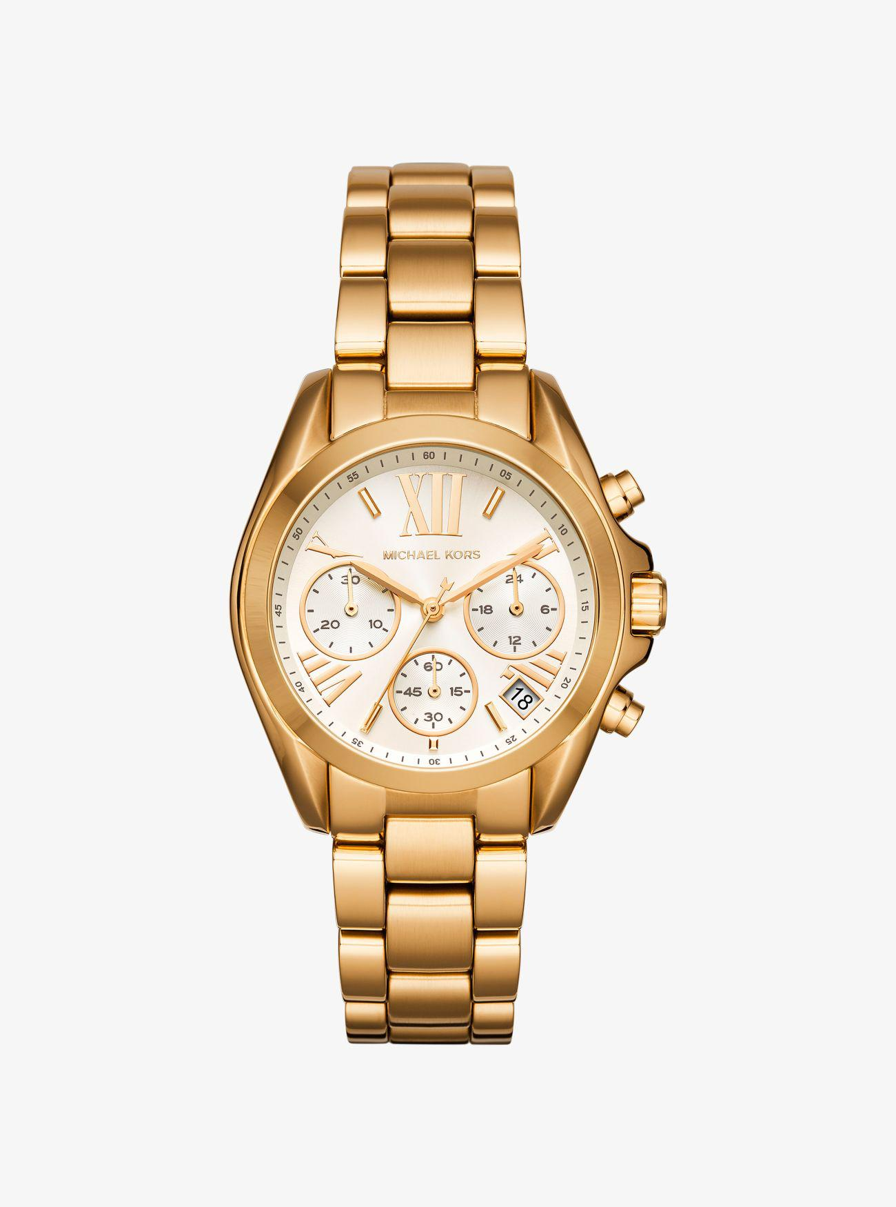 Michael Kors. Women\u0027s Metallic Mini Bradshaw Gold-tone Watch