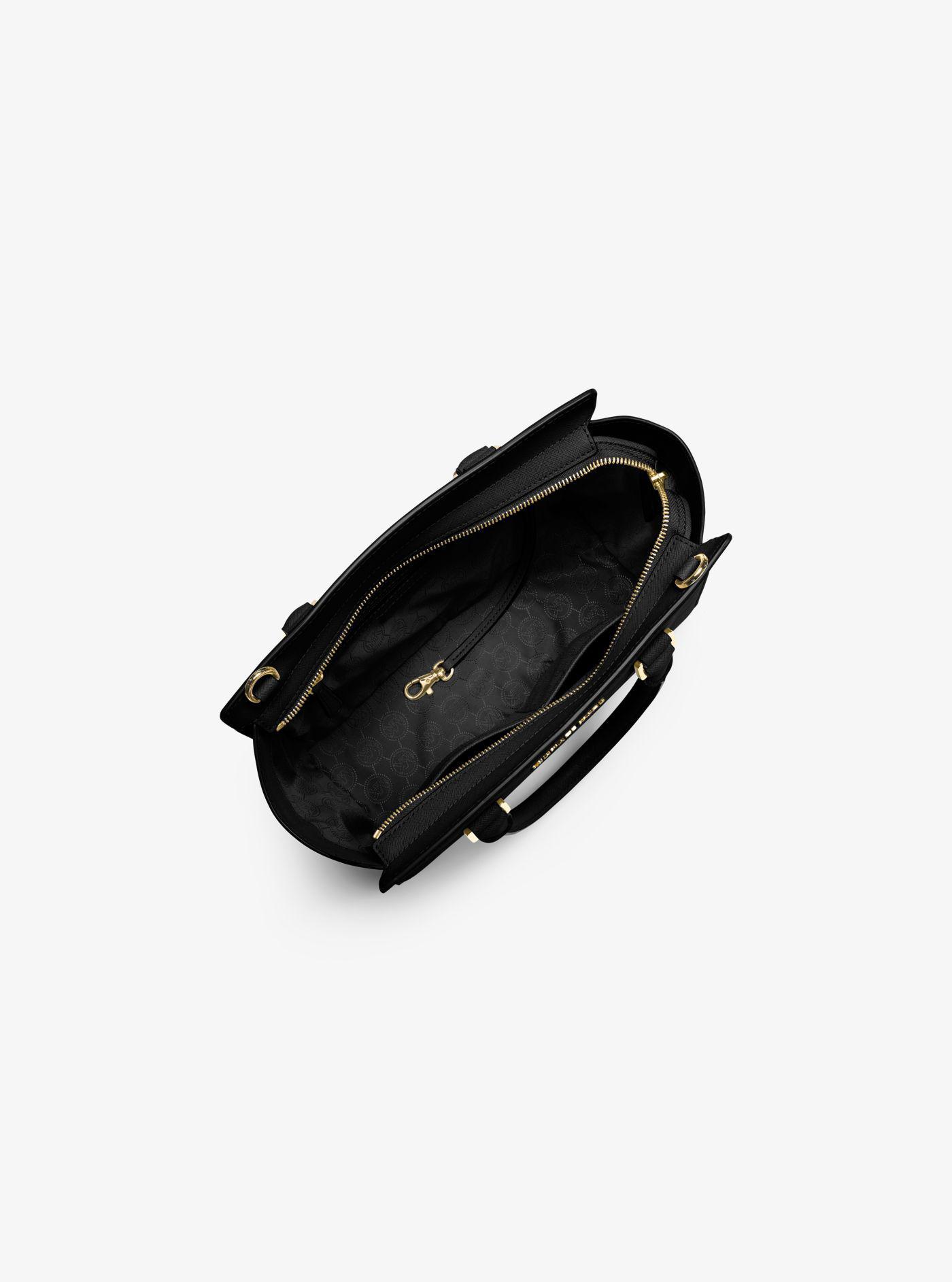1bd00b6f6fc3 Michael Kors - Black Selma Saffiano Leather Medium Satchel - Lyst. View  fullscreen