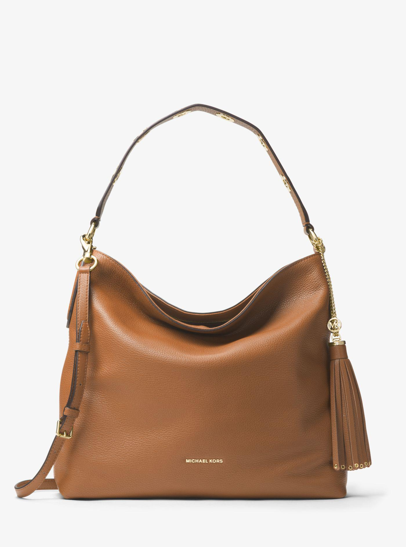 8060d04cbf7f Michael Kors - Brown Brooklyn Large Leather Shoulder Bag - Lyst. View  fullscreen