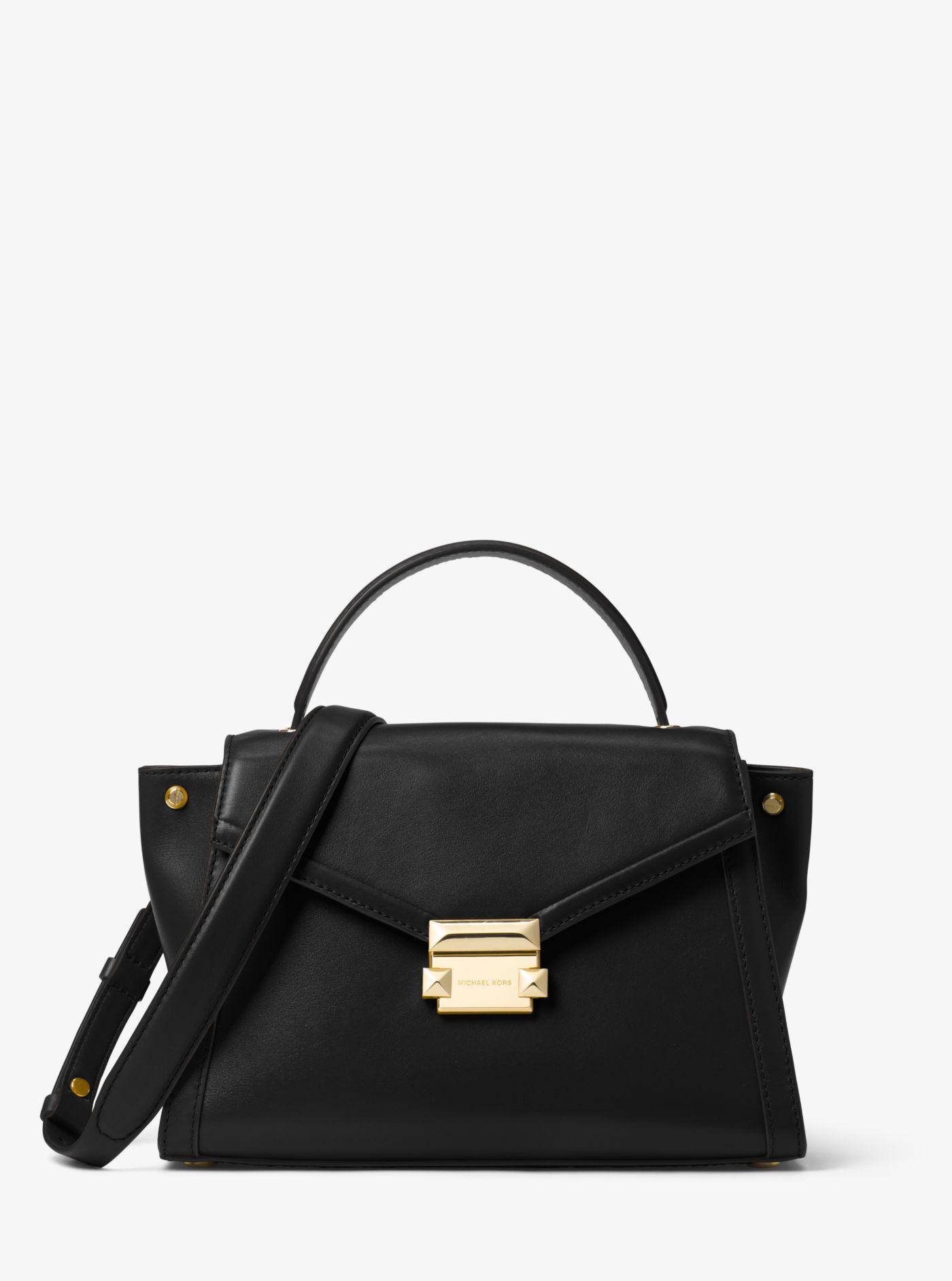 2e4554837a8d ... messenger bag in yellow e1b60 c6256  greece michael kors black whitney  medium leather satchel lyst. view fullscreen 3b352 ef769