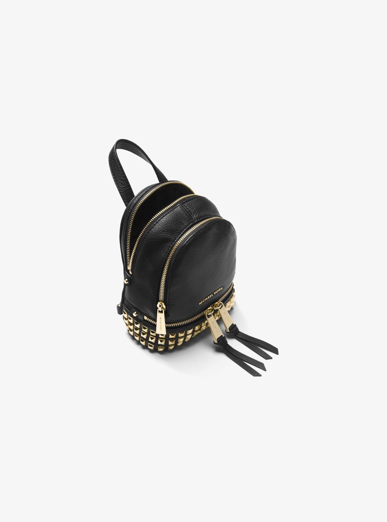 8e6551653ee4 MICHAEL Michael Kors - Black Rhea Mini Studded Leather Backpack - Lyst.  View fullscreen
