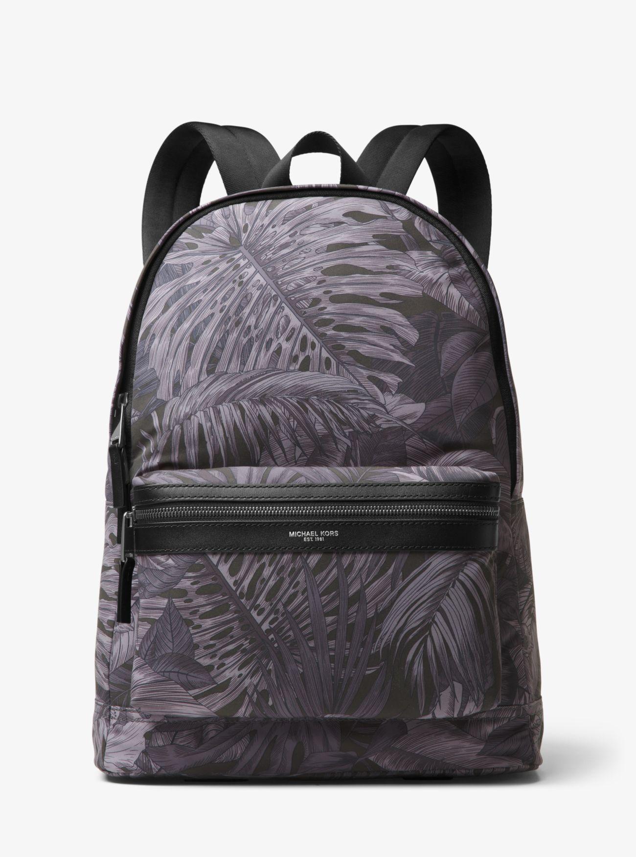 770092c2bdf5 Michael Kors Kent Tropical Backpack in Black for Men - Save 48% - Lyst