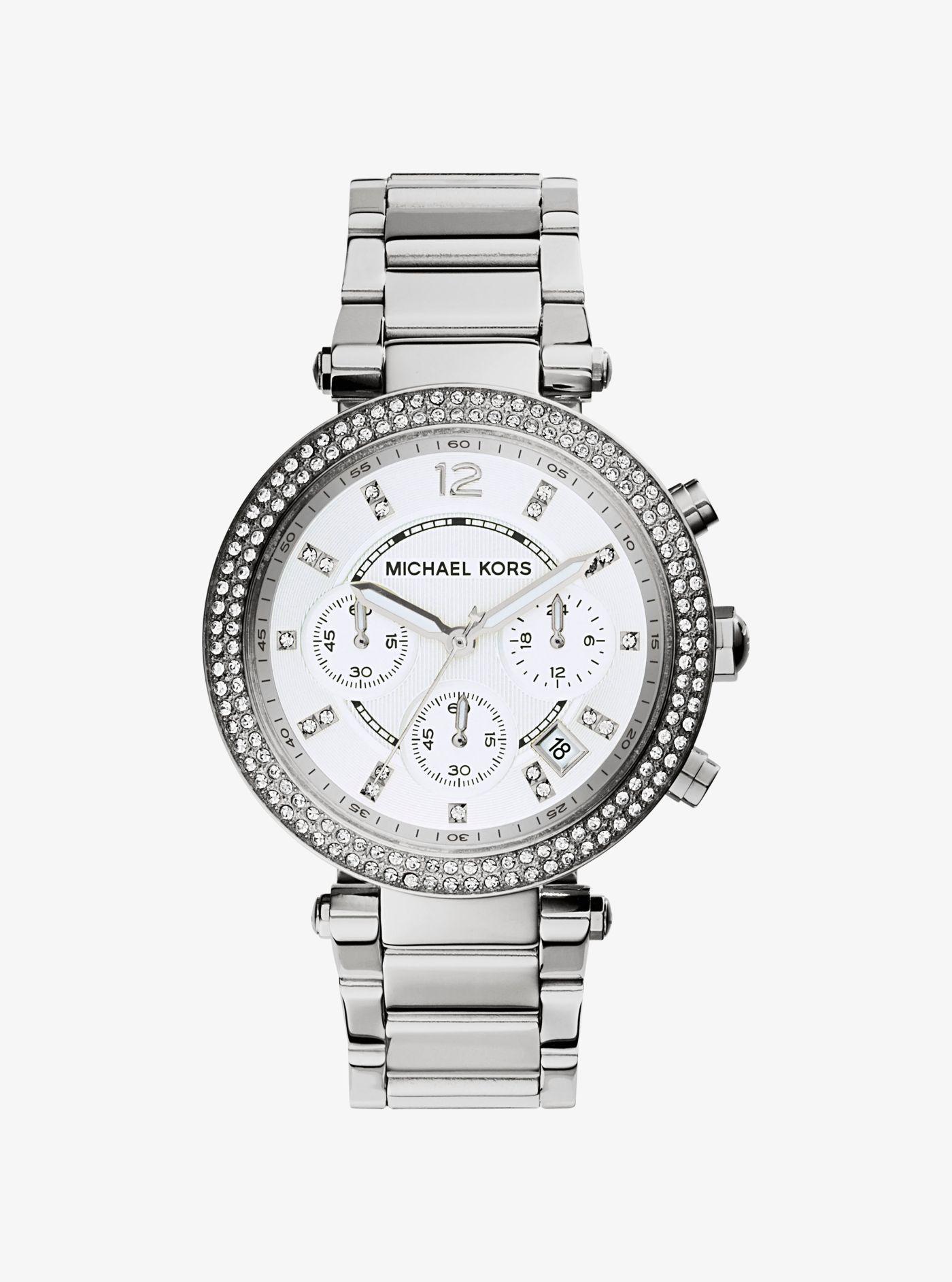 adb1f6d6bc82 Michael Kors - Metallic Mk5353 Parker Watch Silver-tone - Lyst. View  fullscreen