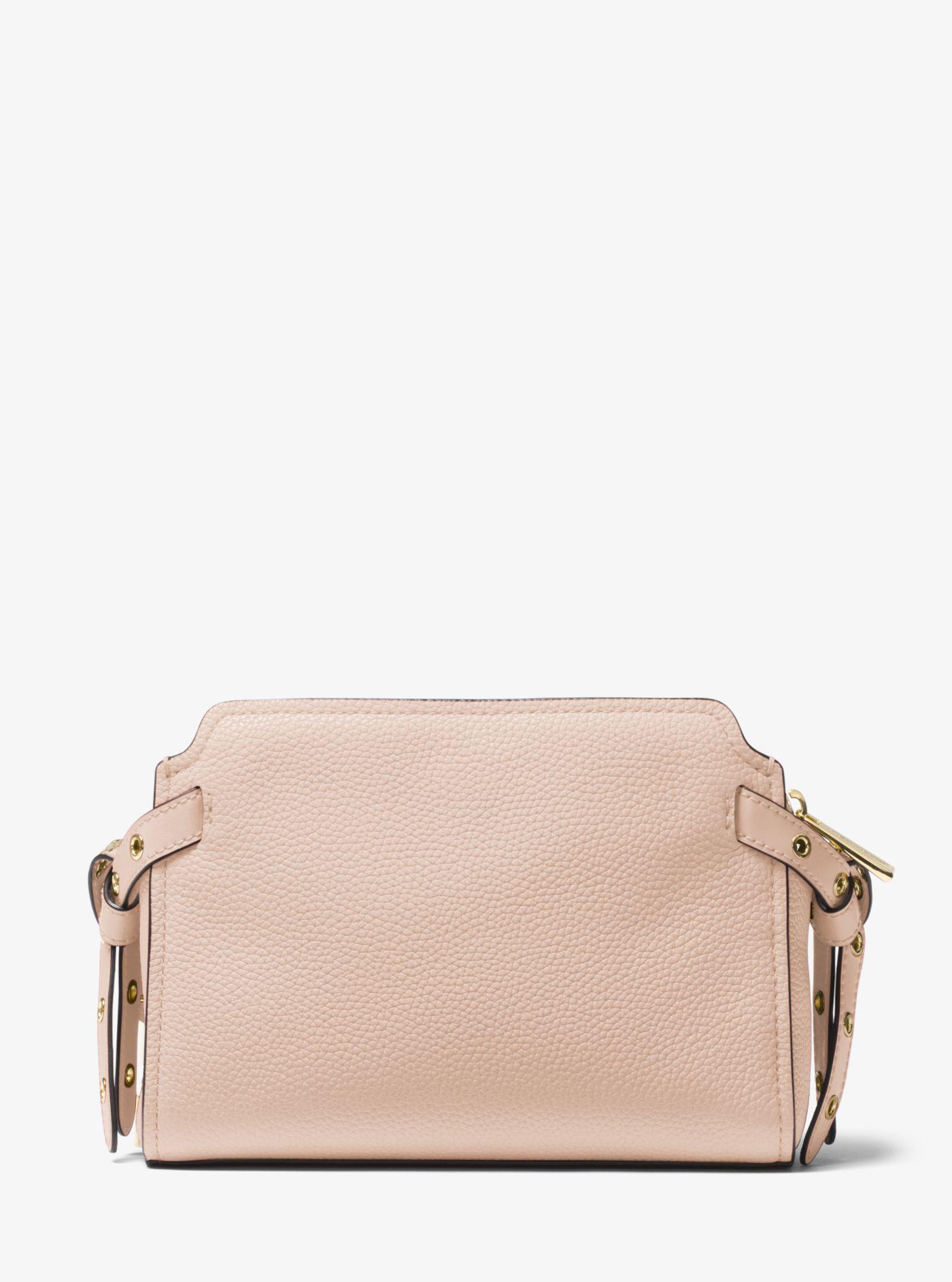 96f7eb23abd82 Lyst - Michael Kors Bristol Leather Crossbody in Pink