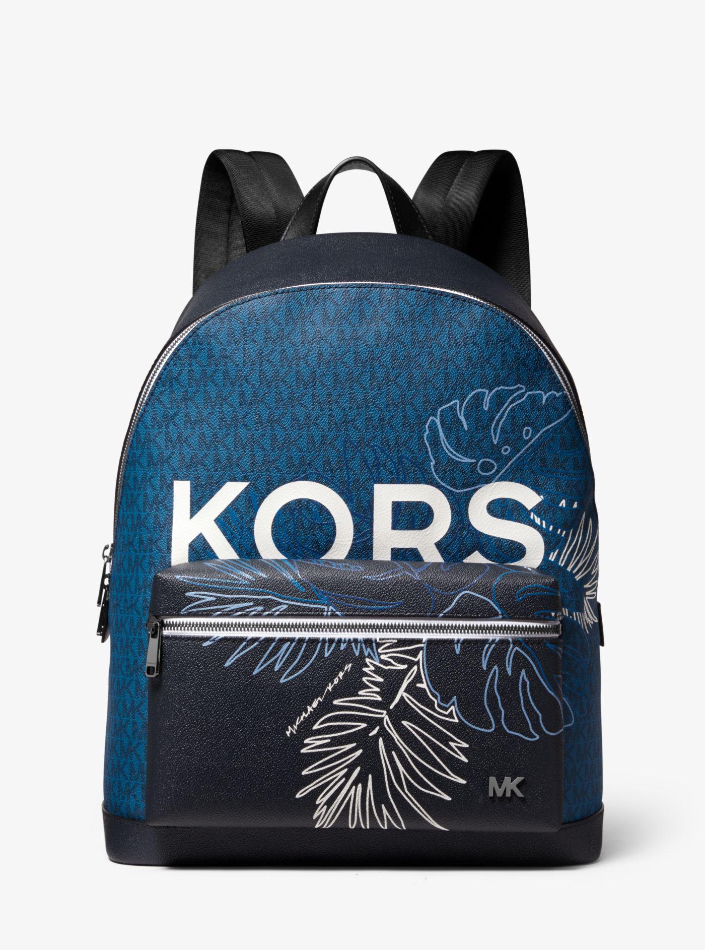 4c305d6fde Michael Kors - Blue Sac à dos Jet Set à imprimé logo tropical for Men -.  Afficher en plein écran