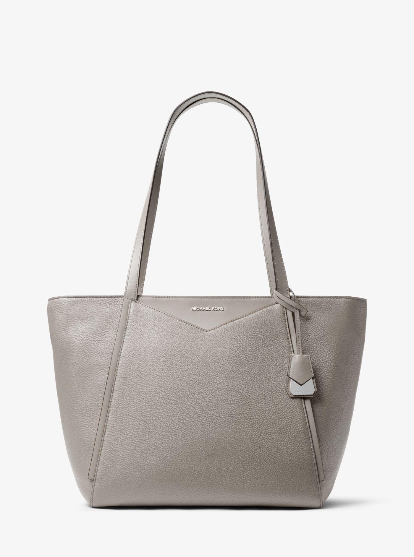 447beb05402c3e Michael Kors - Gray Whitney Large Leather Tote Bag - Lyst. View fullscreen