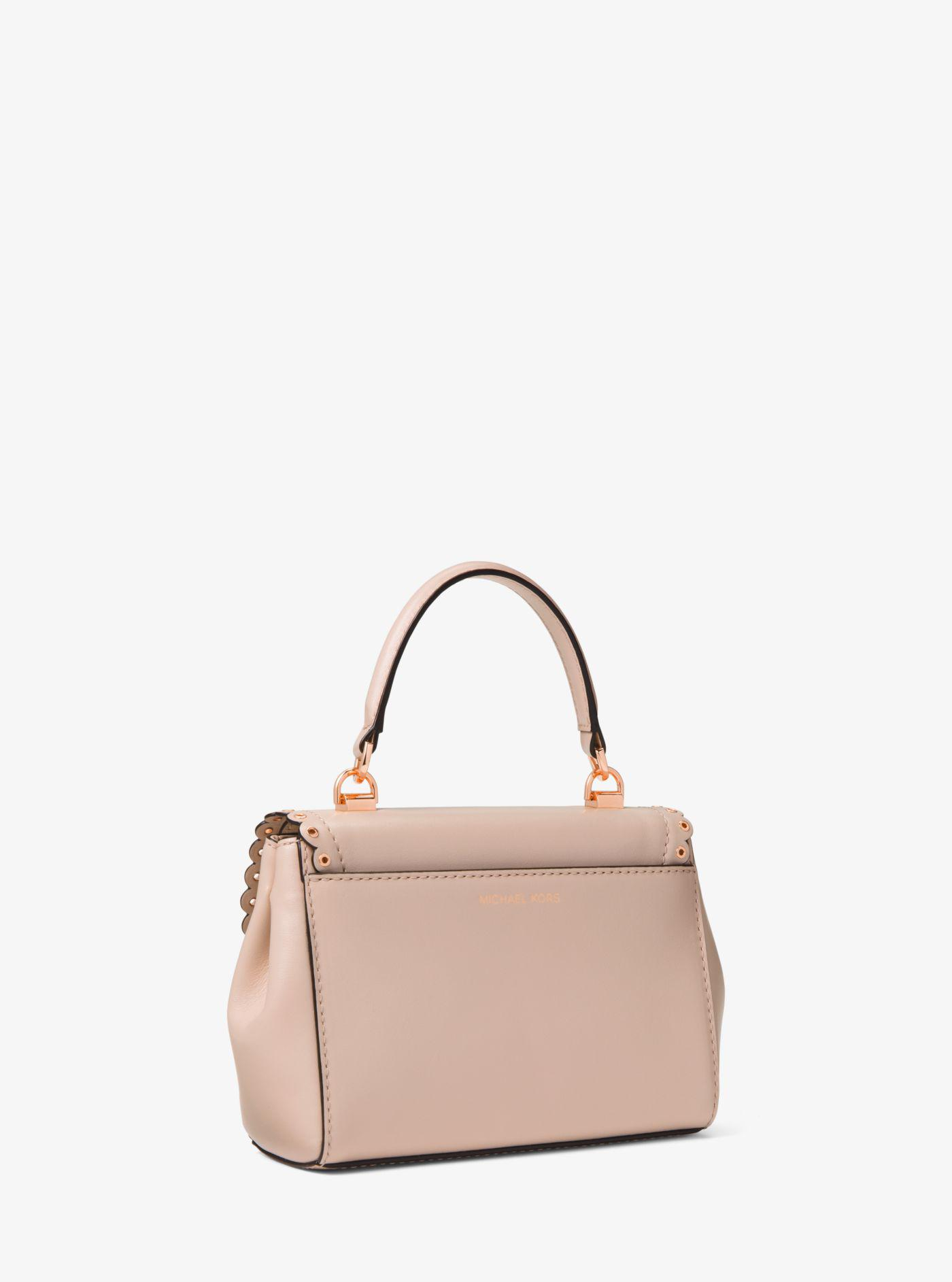 6bd8d7261d7f Michael Kors Ava Extra-small Scalloped Leather Crossbody in Pink - Lyst