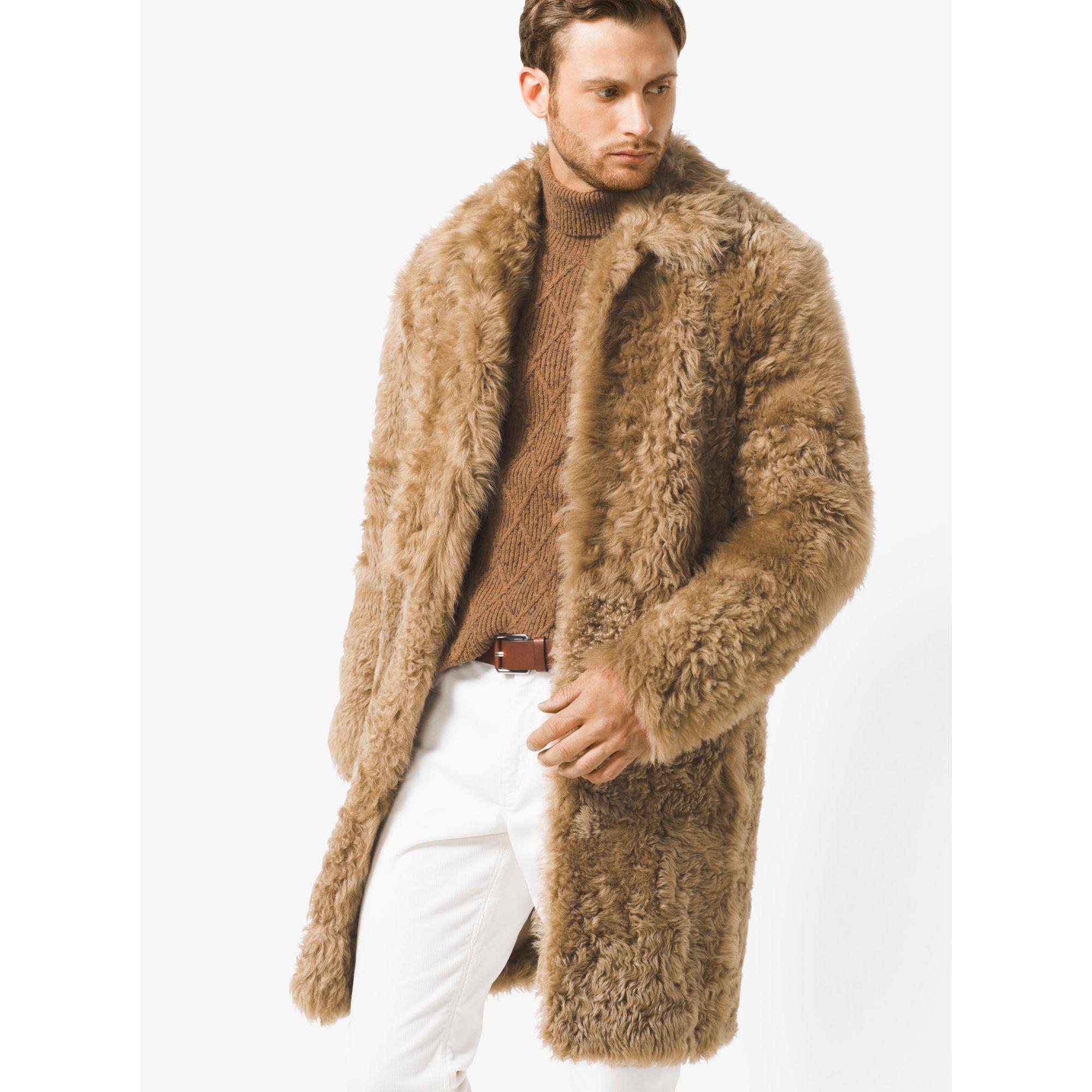 Lyst Michael Kors Shearling Teddy Bear Reefer For Men