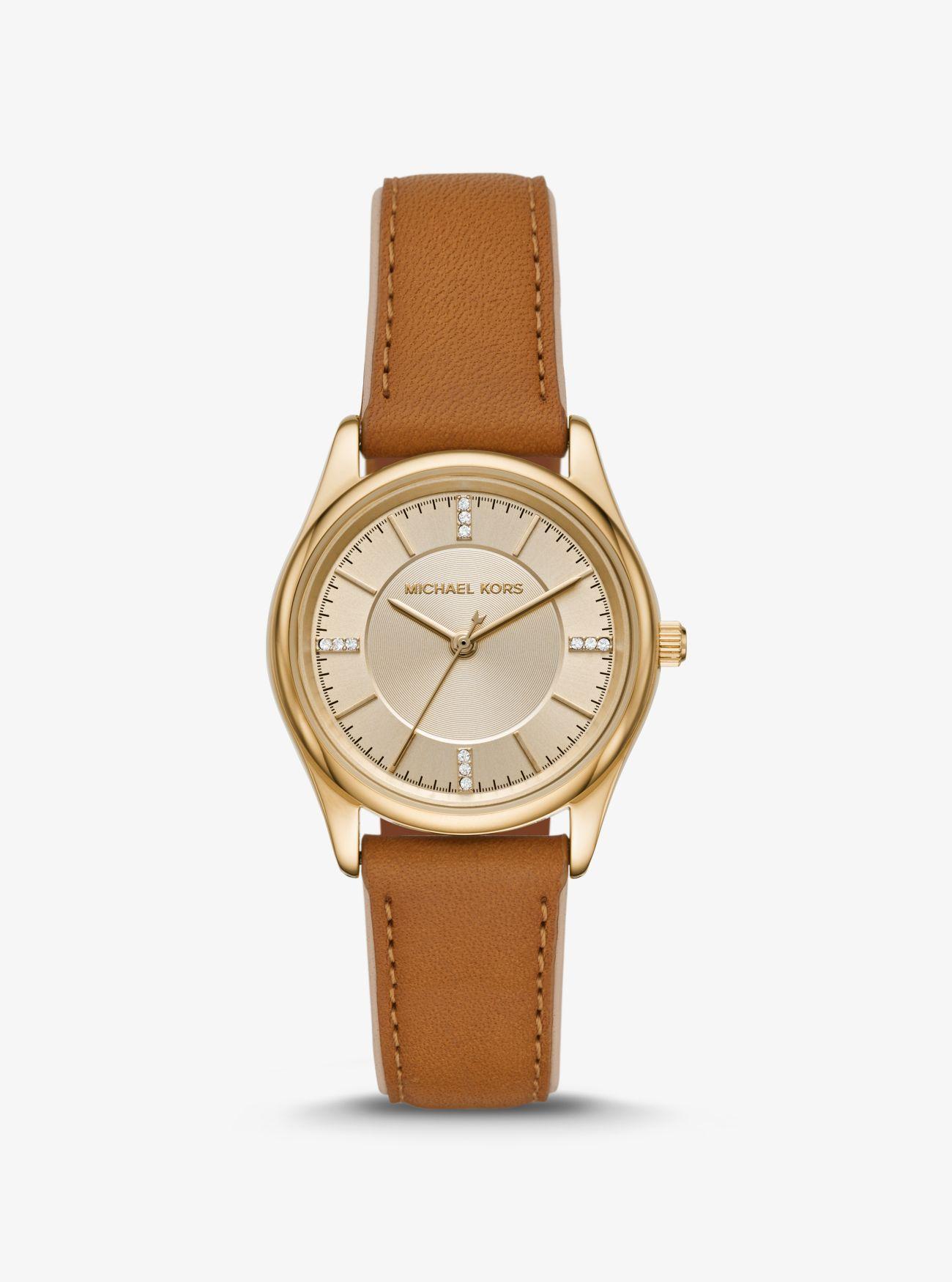 Kors Color Metálico En Colette Dorado Piel Tono Michael Reloj De Y6ymI7gvbf