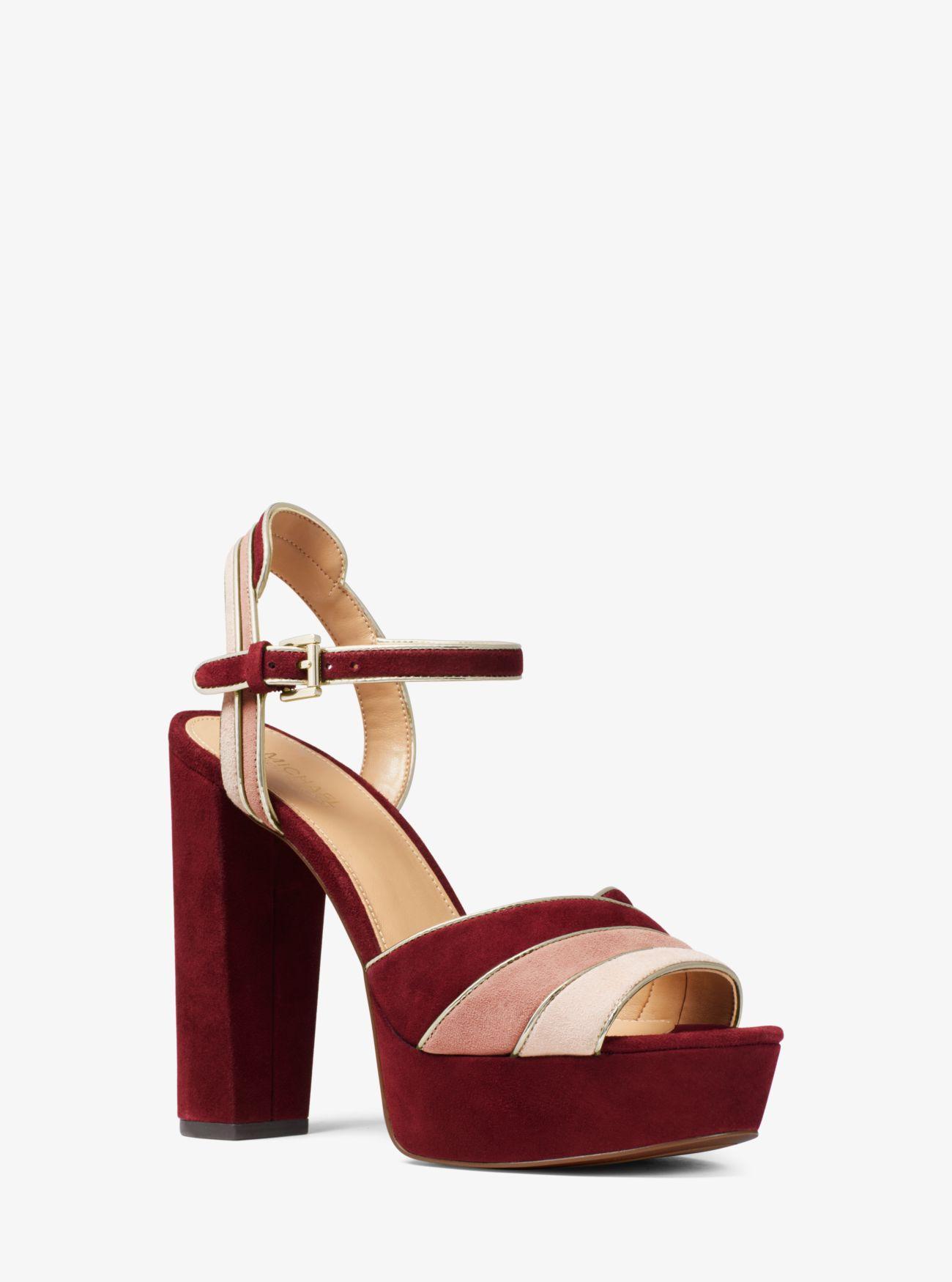 ec0ee90df686 MICHAEL Michael Kors. Women s Red Harper Tri-color Suede Platform Sandal