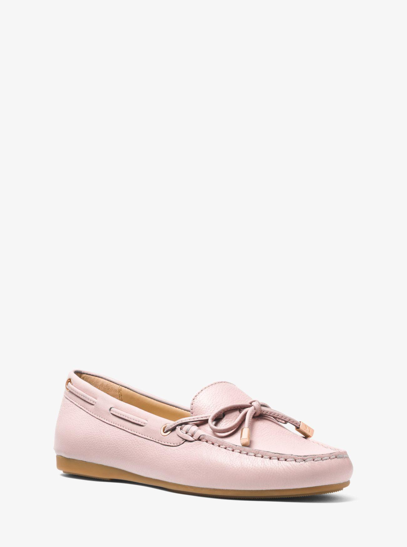 37bab69e078 Lyst - MICHAEL Michael Kors Sutton Leather Moccasin in Pink