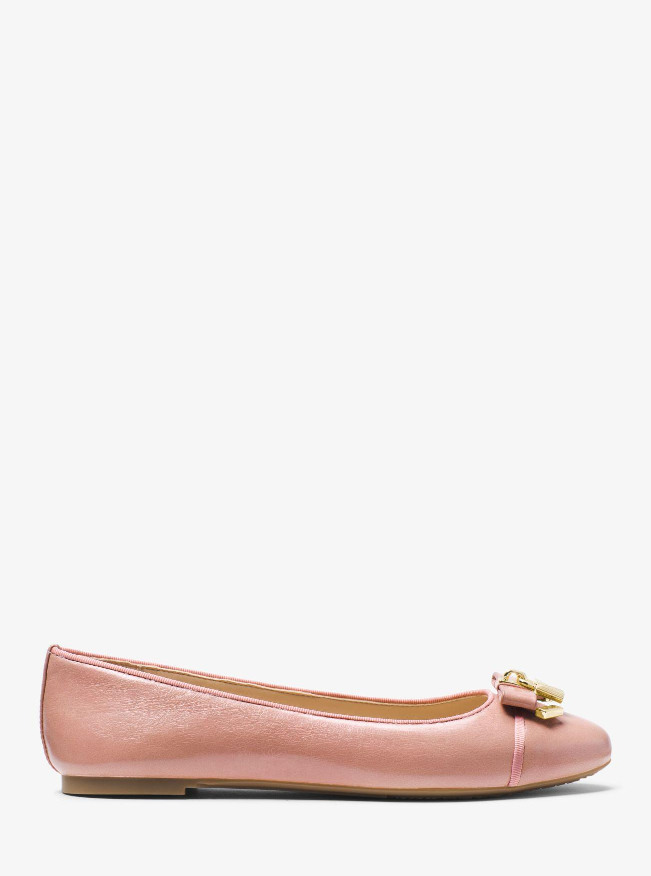 3f2b760c72046 Lyst - Michael Kors Alice Leather Ballet Flat in Pink