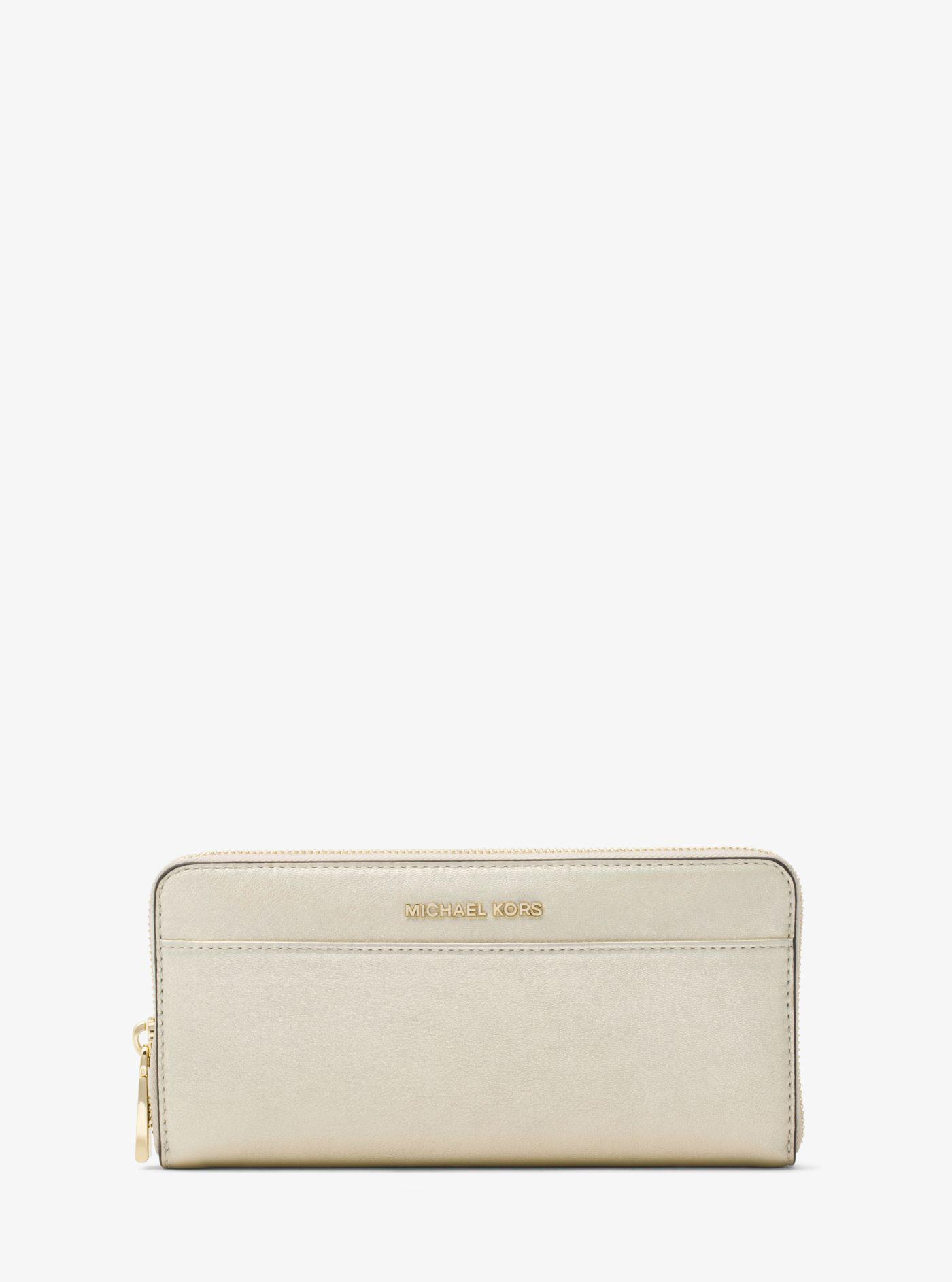 c2b762342bcf Lyst - Michael Kors Jet Set Iridescent Leather Continental Wallet in ...