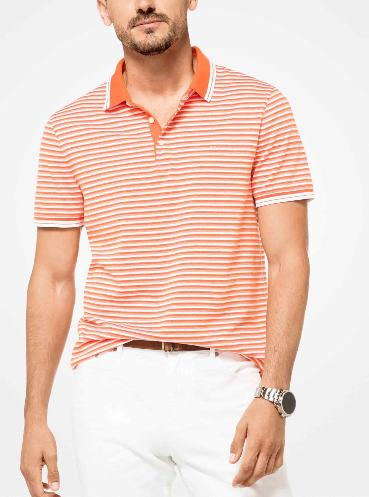 3c8d33bd Michael Kors - Multicolor Greenwich Striped Cotton Polo Shirt for Men - Lyst