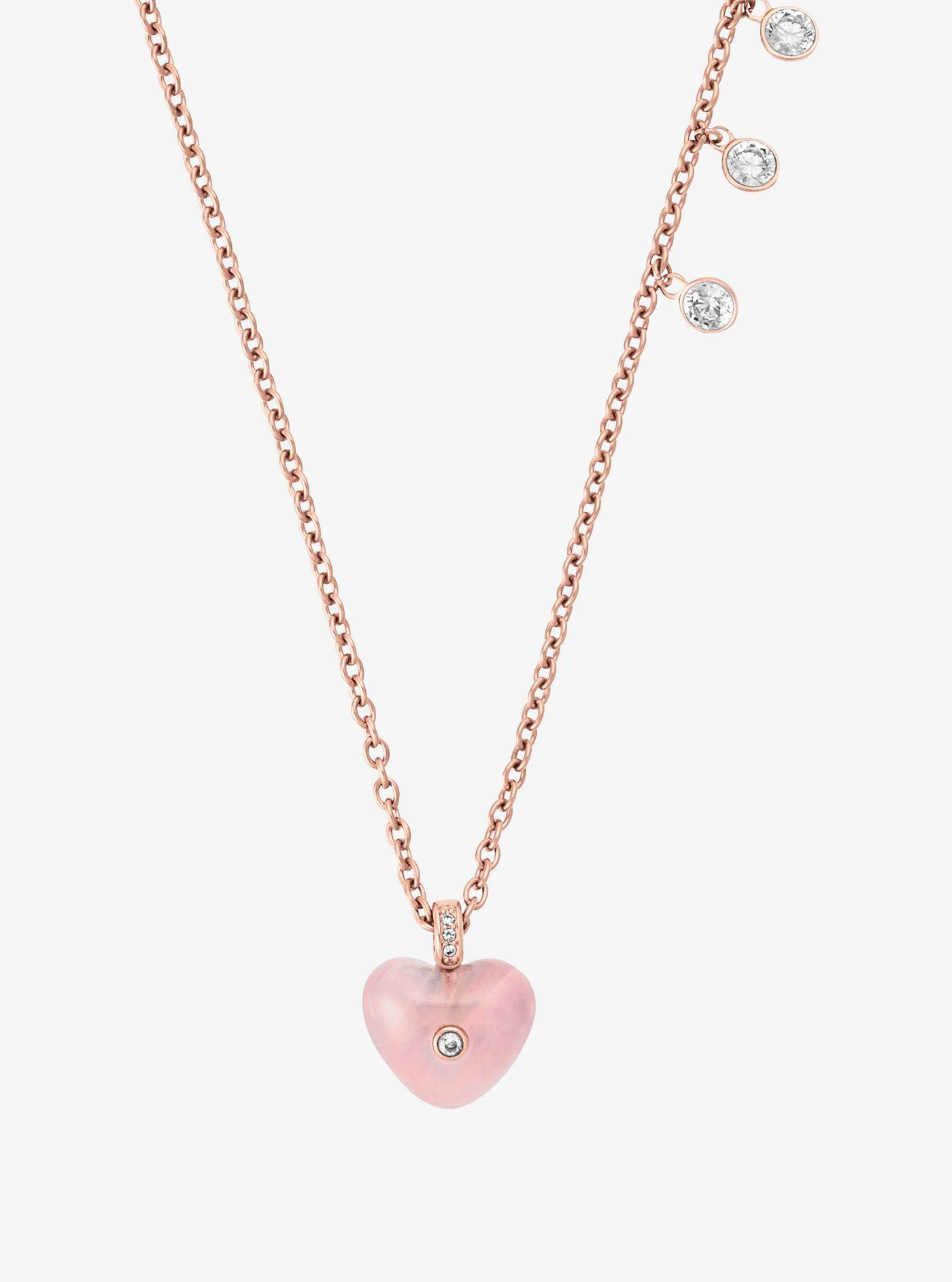 4c17b5dfaa25 Michael Kors Heart Necklace - Necklace Wallpaper Gallerychitrak.Org