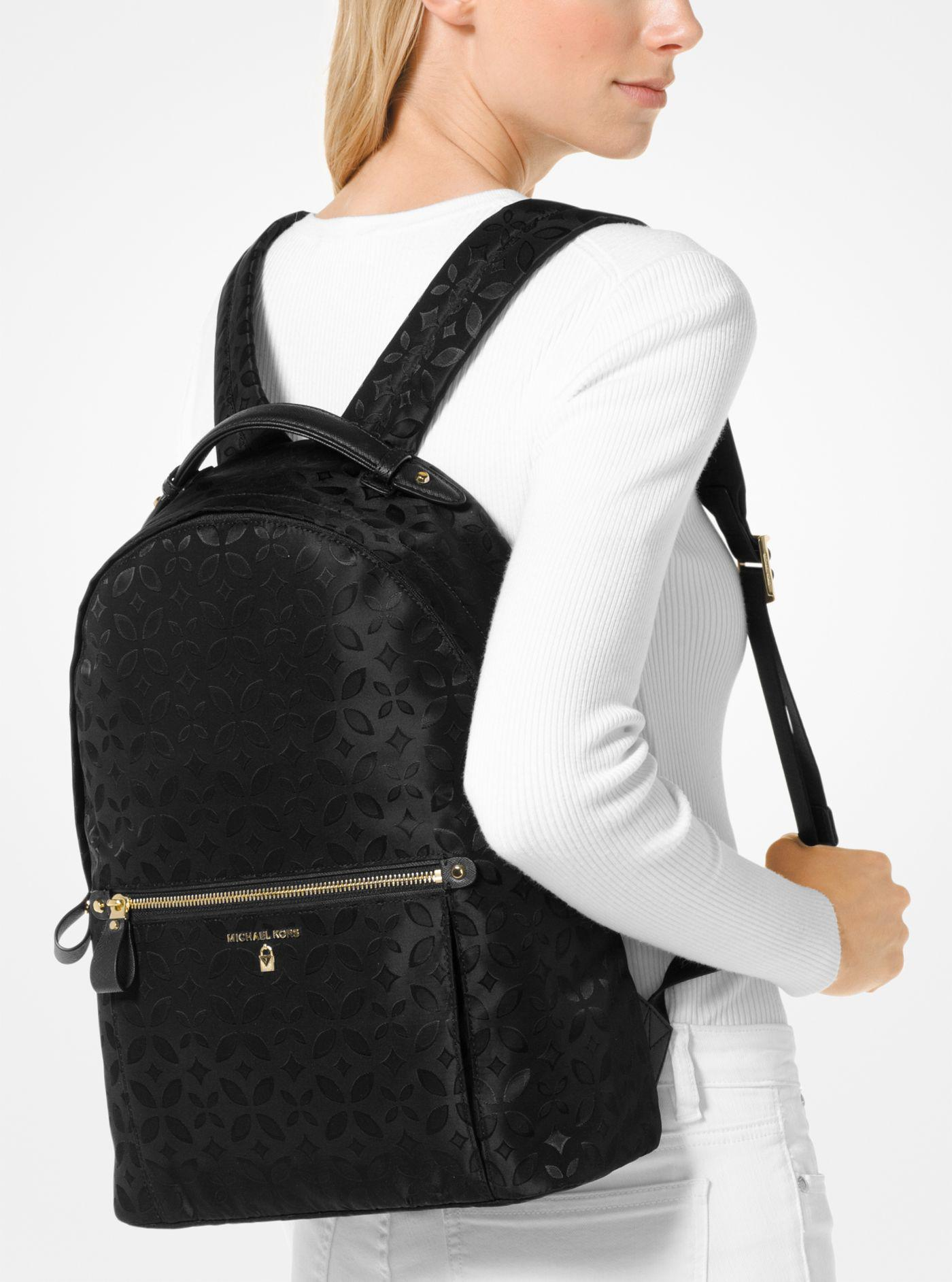 9146646d8c8633 Michael Kors Michael Nylon Kelsey Signature Backpack in Black - Lyst