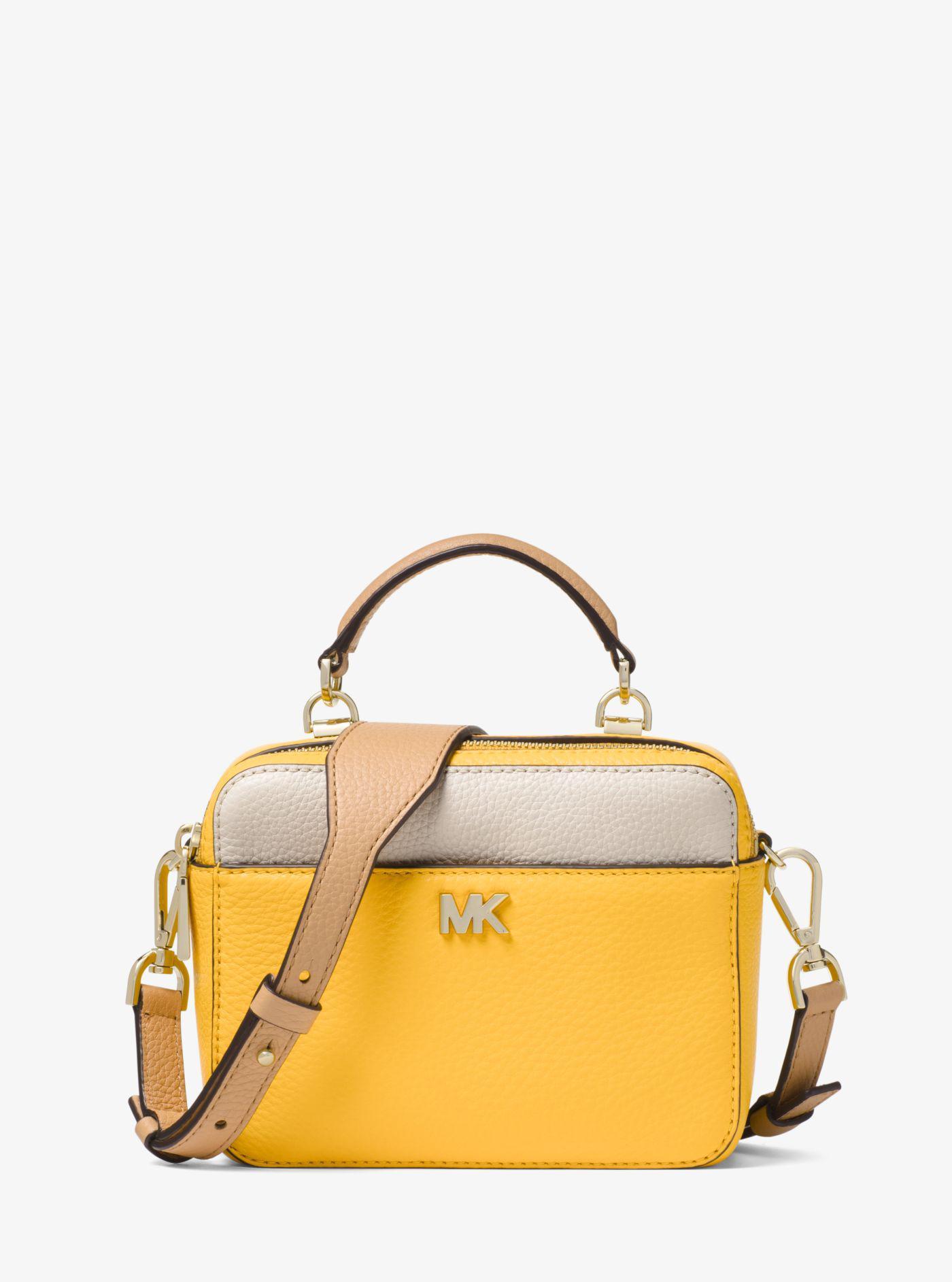 05a0c4d94149 Michael Kors Mott Mini Color-block Pebbled Leather Crossbody Bag - Lyst
