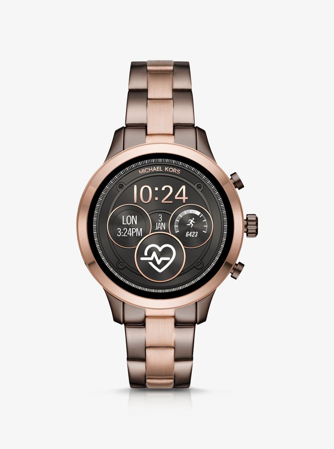 51fb6bcceedc Michael Kors - Multicolor Reloj Inteligente Runway Heart Rate En Dos Tonos  - Lyst. Ver en pantalla completa