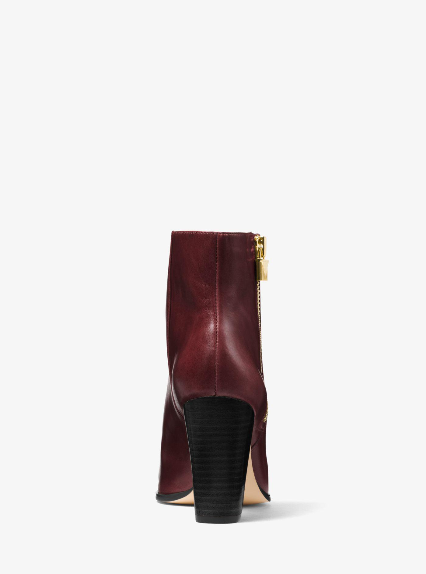 3a6e2b17e125 Michael Kors Michael Margaret Block Heel Ankle Boots - Lyst