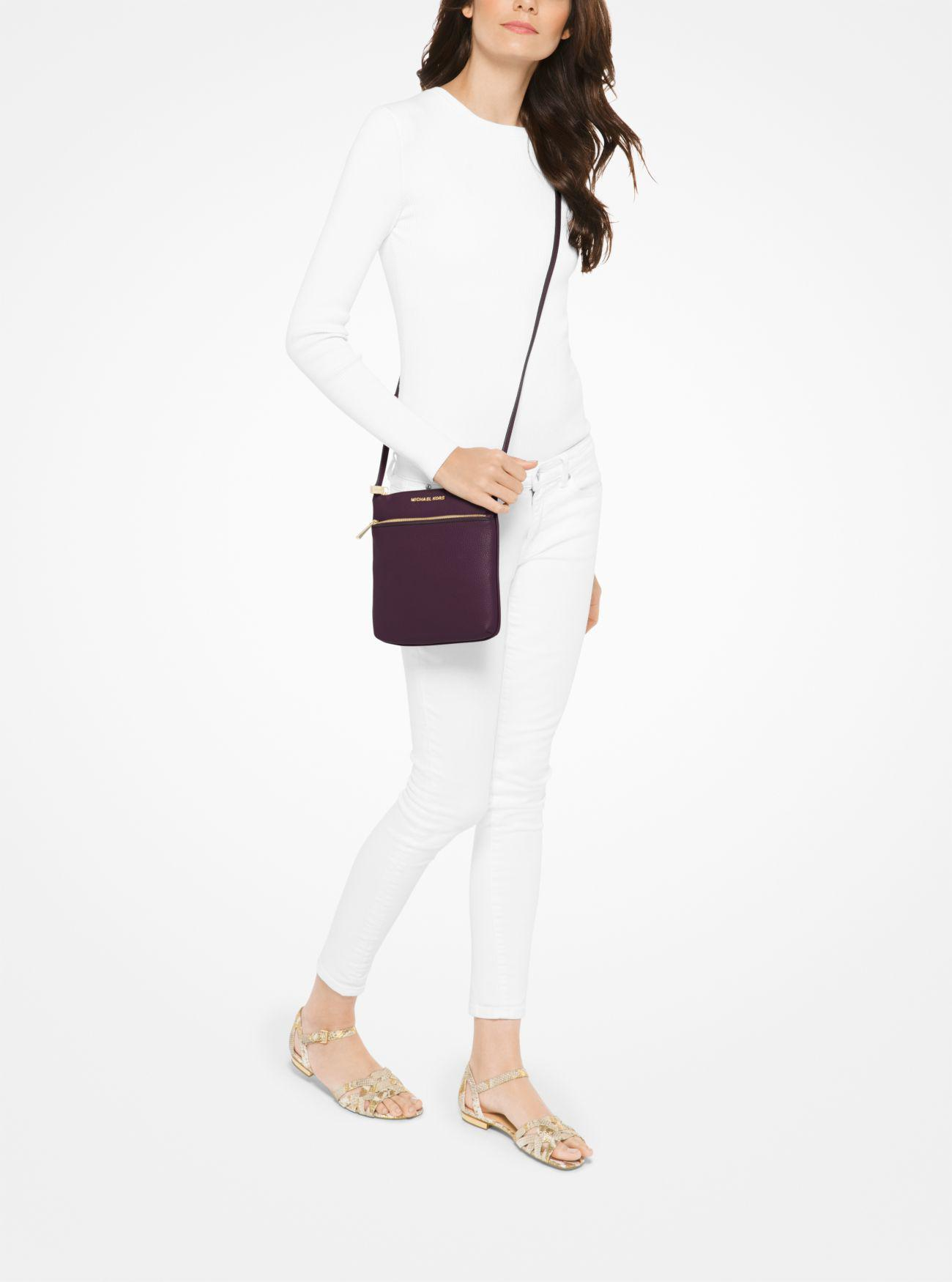 Lyst - Michael Kors Riley Small Pebbled-leather Crossbody 4e1bfa3ef