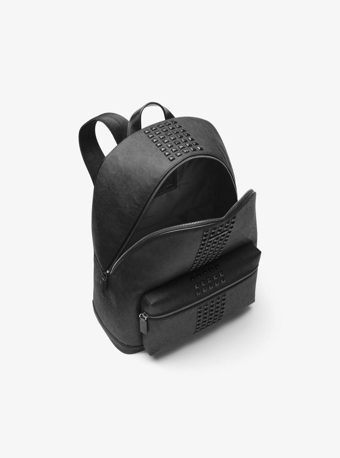 2c9fa17629ac Lyst - Michael Kors Jet Set Studded Logo Backpack in Black for Men