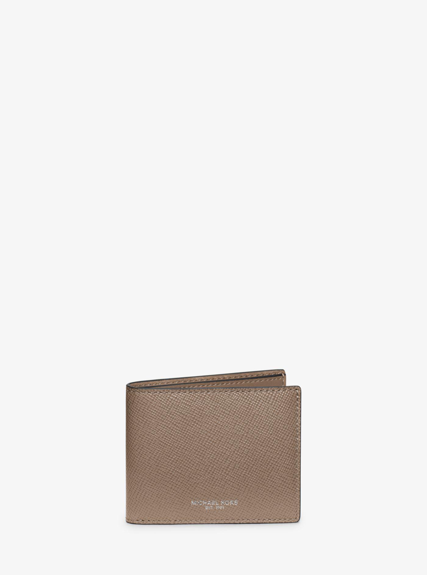 3cec6ea47804 Michael Kors - Gray Harrison Slim Leather Billfold Wallet for Men - Lyst