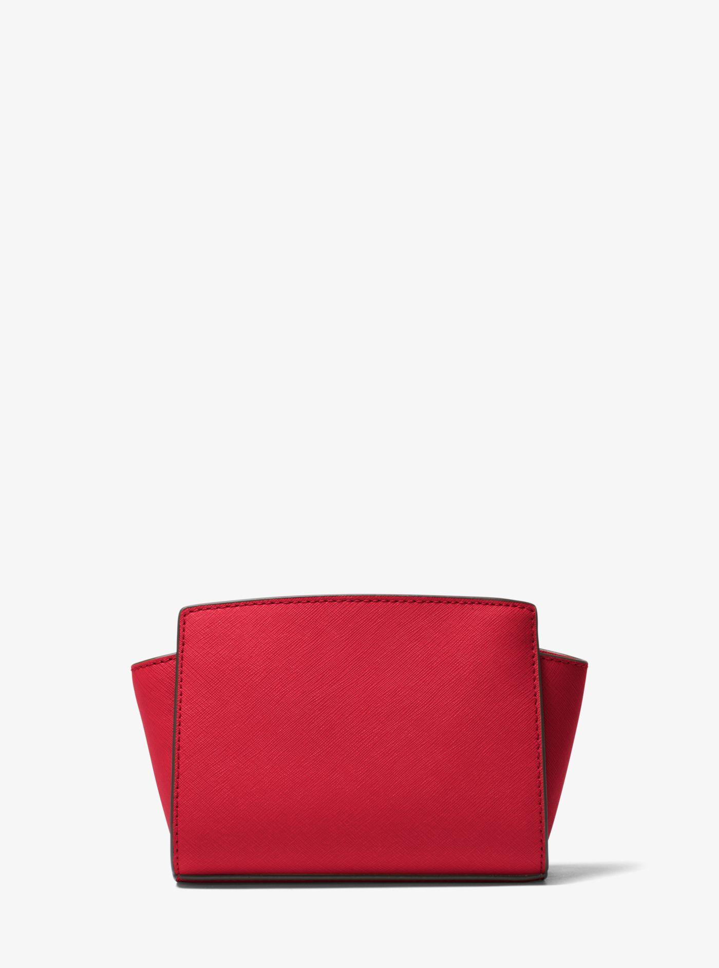 83f18b0b7ad9 Michael Kors Selma Mini Saffiano Leather Crossbody in Red - Lyst