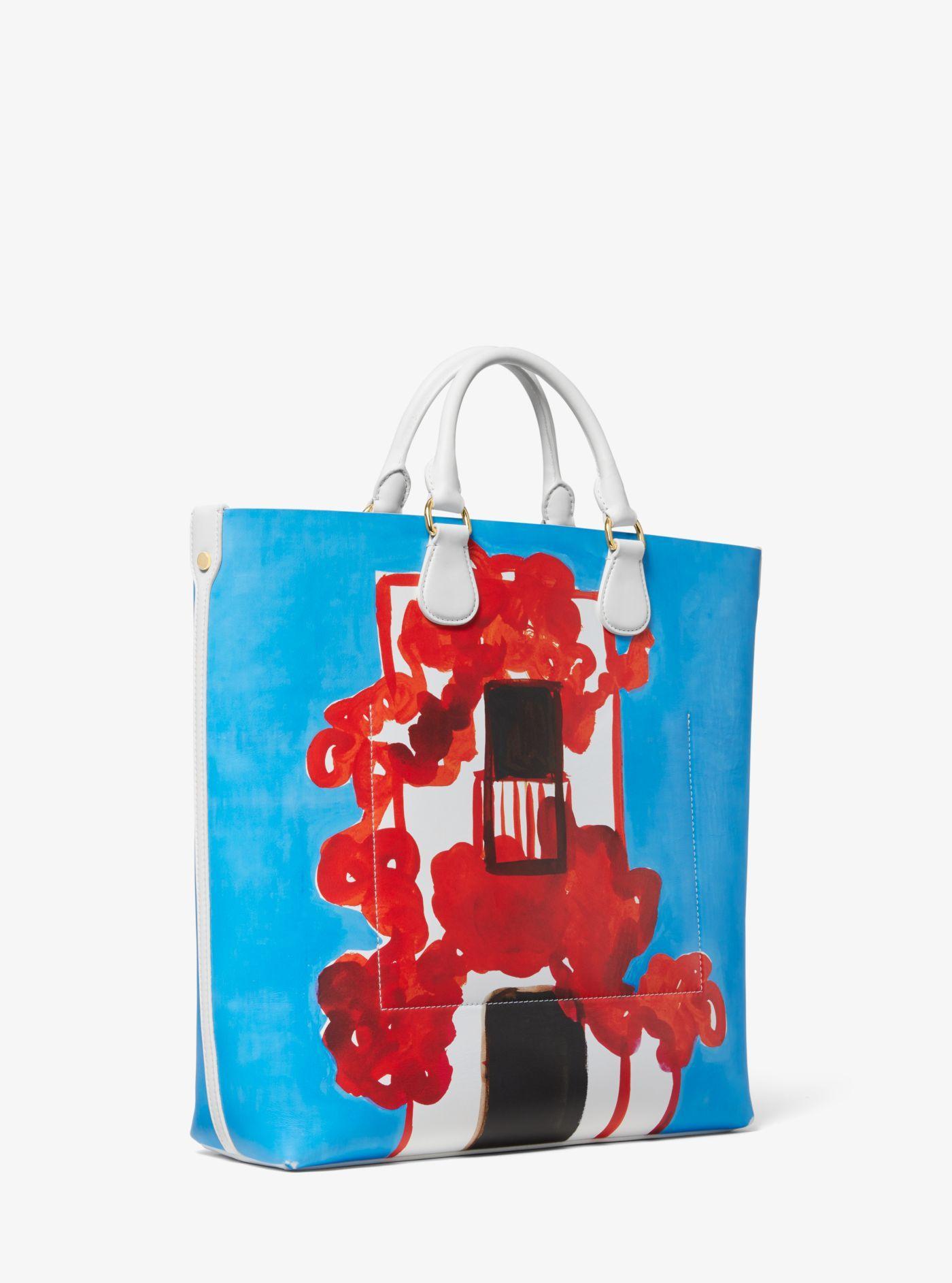 a87483d8d1fc Michael Kors - Multicolor Dandridge Printed Calf Leather Christina Zimpel  Tote - Lyst. View fullscreen
