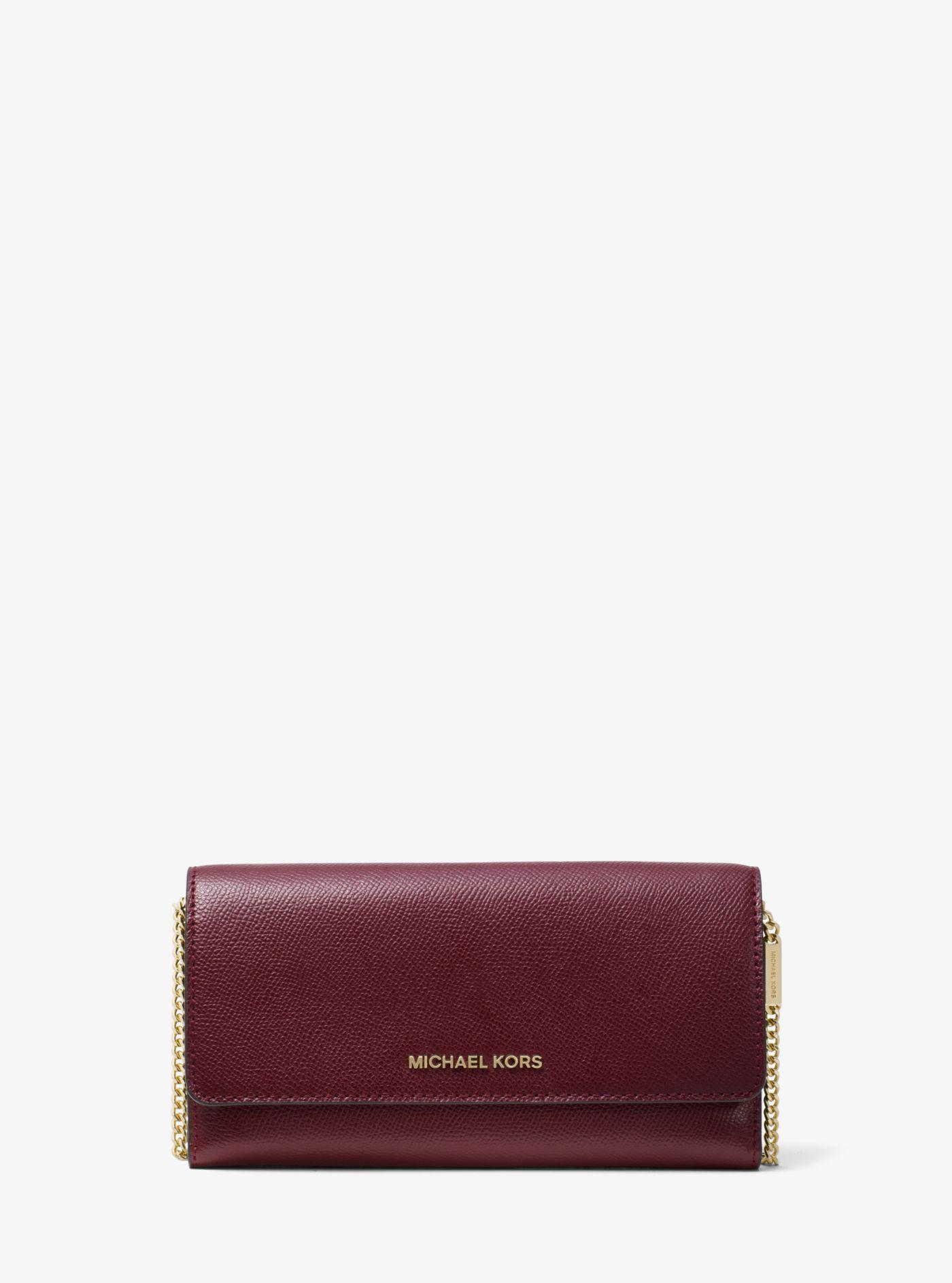 cf7b2ebd31c0 MICHAEL Michael Kors. Women's Large Wallet On A Chain (oxblood ...