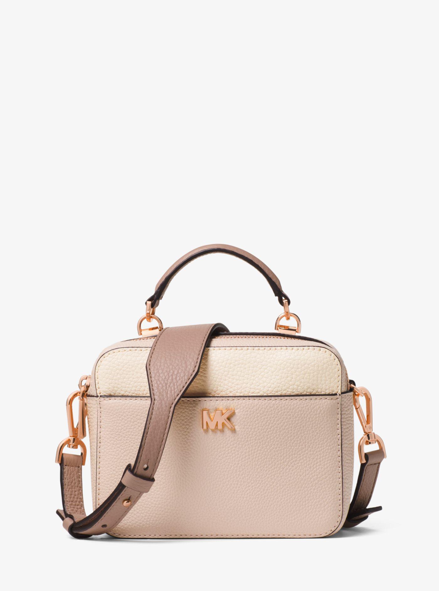 f4845e18e1d2 Michael Kors Mott Mini Color-block Pebbled Leather Crossbody - Lyst