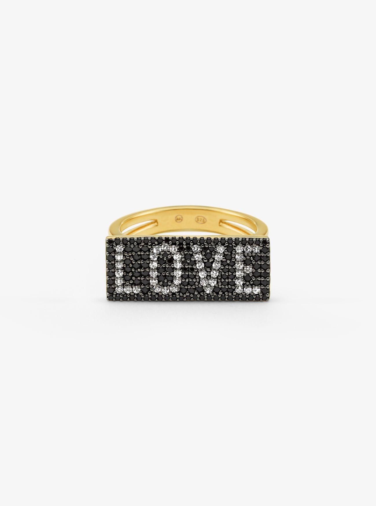 1aded3d84c40 Anillo Love De Plata De Ley Con Chapado En Oro De 14 k E ...