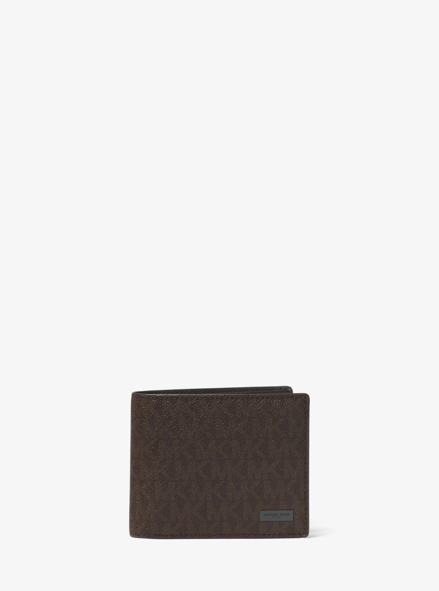 115eed6b327d Michael Kors - Brown Jet Set Logo Billfold Wallet for Men - Lyst. View  fullscreen