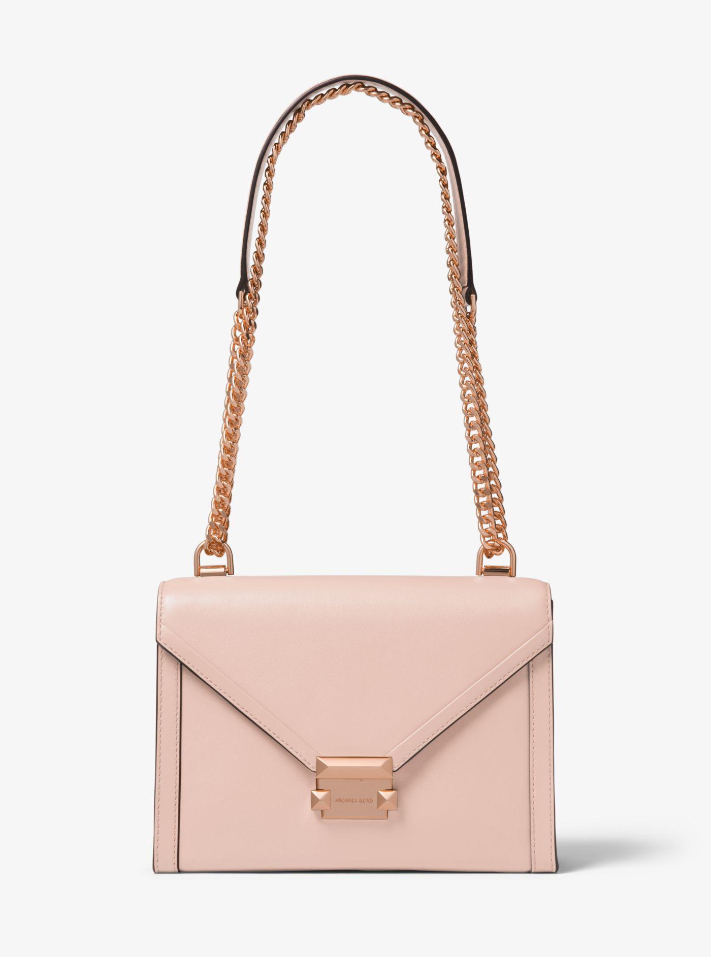 Michael Kors. Women s Pink Whitney Large Leather Convertible Shoulder Bag b3e7d475a196
