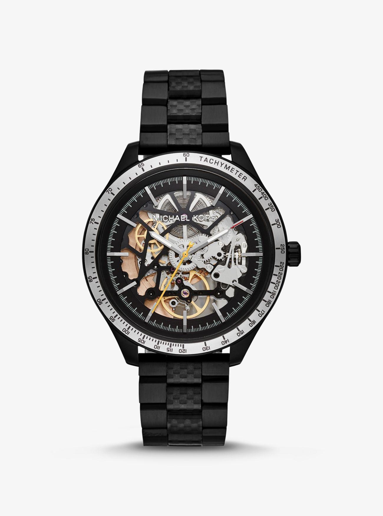 dade18f33906 Michael Kors - Oversized Merrick Black-tone Watch for Men - Lyst. View  fullscreen