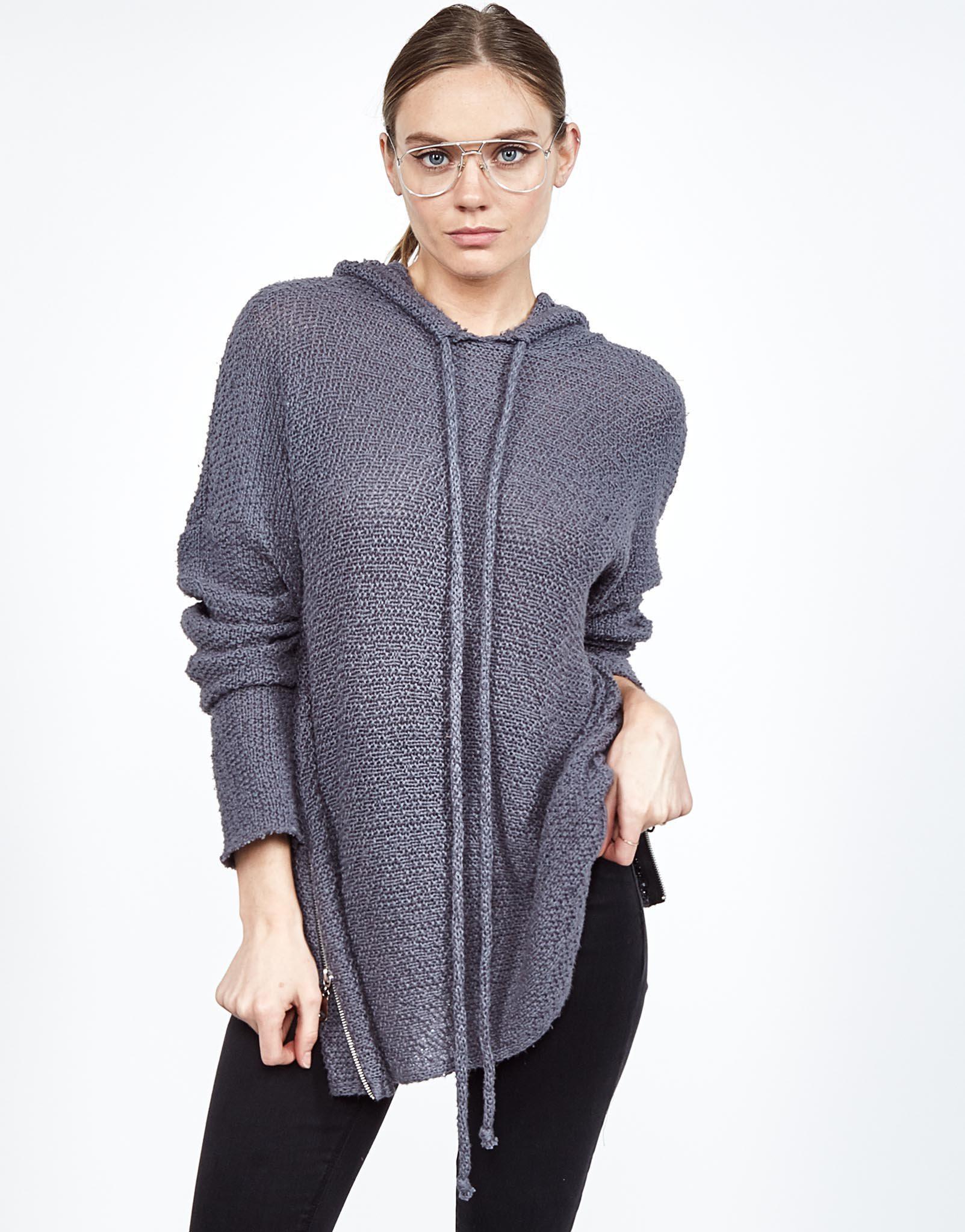 Lyst - Michael Lauren Vassar Hoodie Sweater in Gray f207fc424