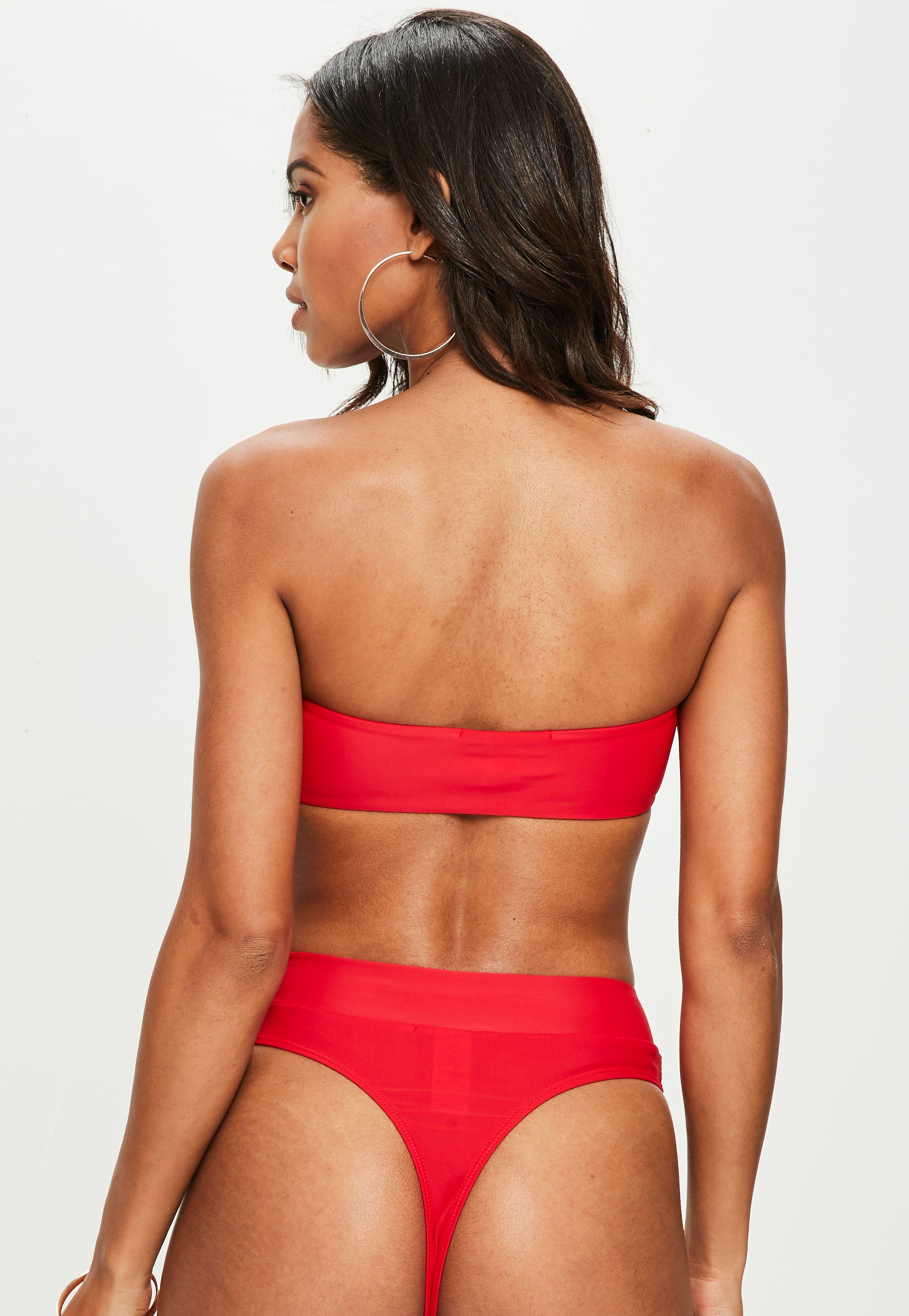 23c31386558 Missguided - Red Thong Bikini Bottoms - Mix And Match - Lyst. View  fullscreen