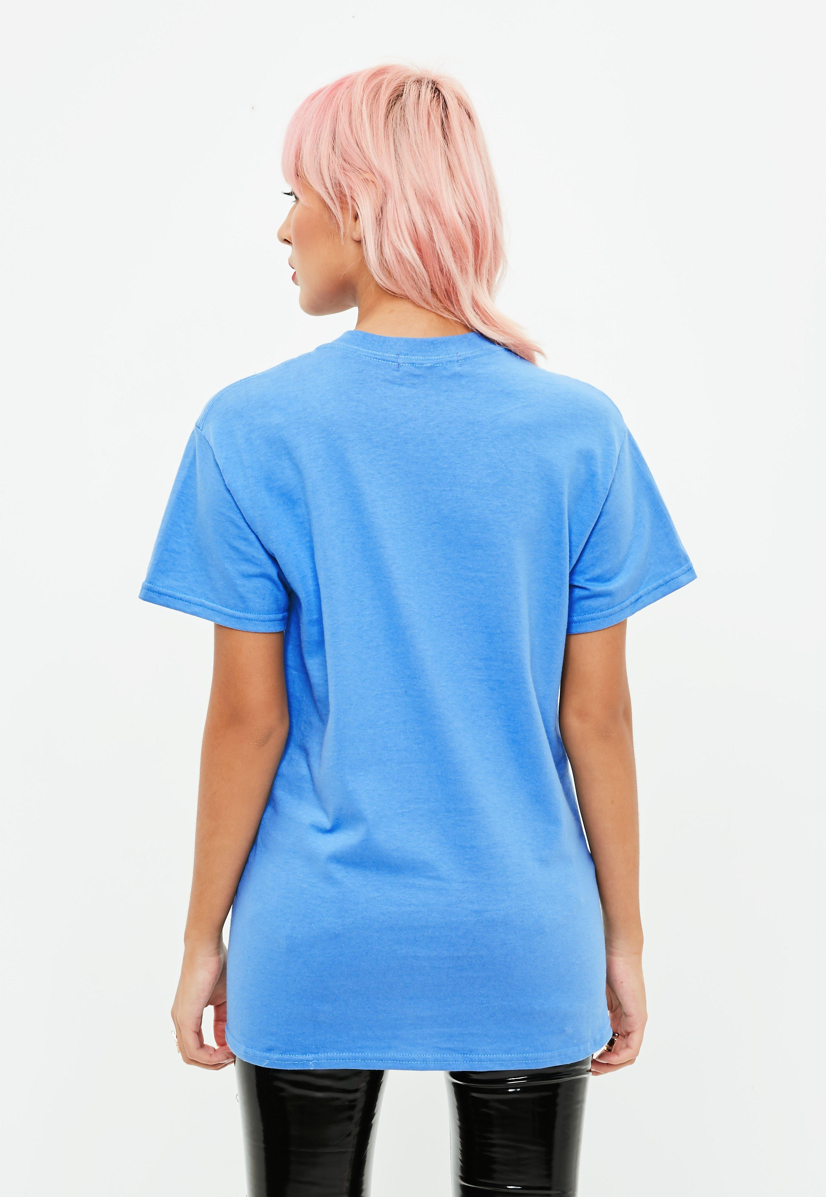 23a23bac3d39 Lyst - Missguided Blue Zurich 98 Slogan T-shirt in Blue