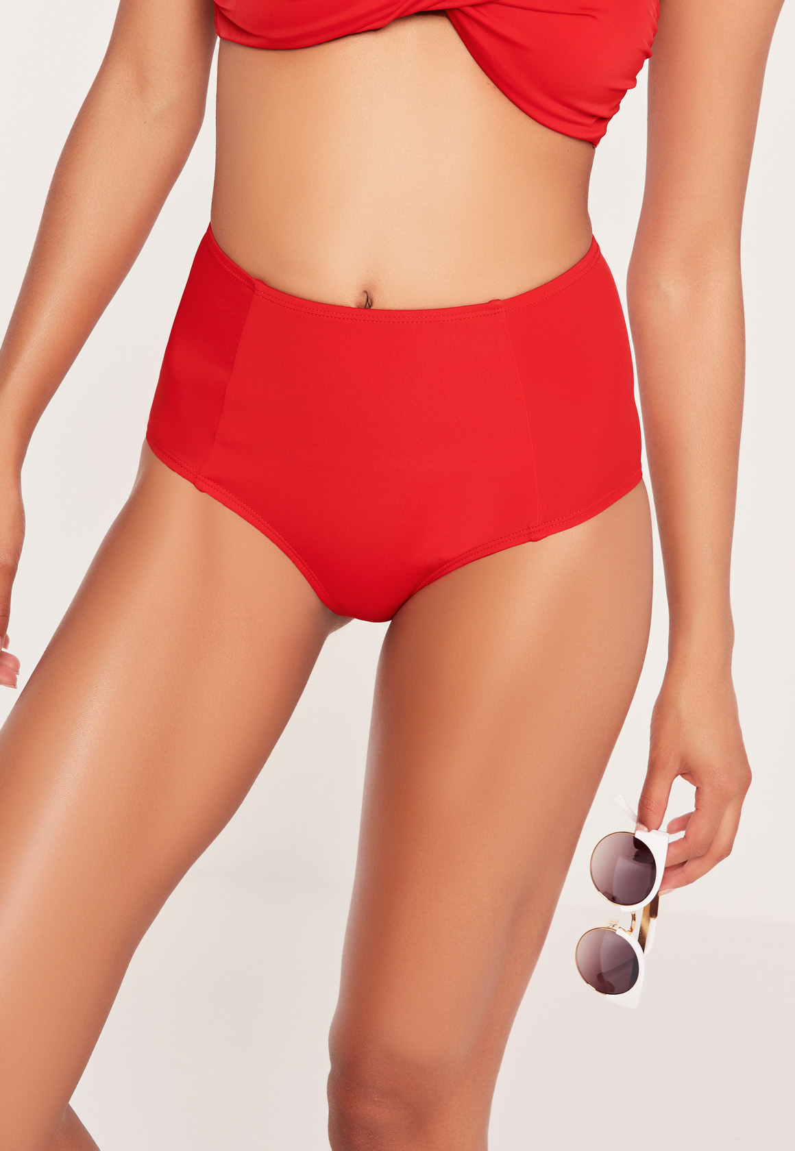 Classic look of vintage, these simple swimsuit bottoms are truly versatile and undeniably flattering. Made from our comfortable and high quality fabric in a full coverage style with tiny shirred detailing. - Solid print is great for mixing and matching, pair well with bikini top or tankini top to.