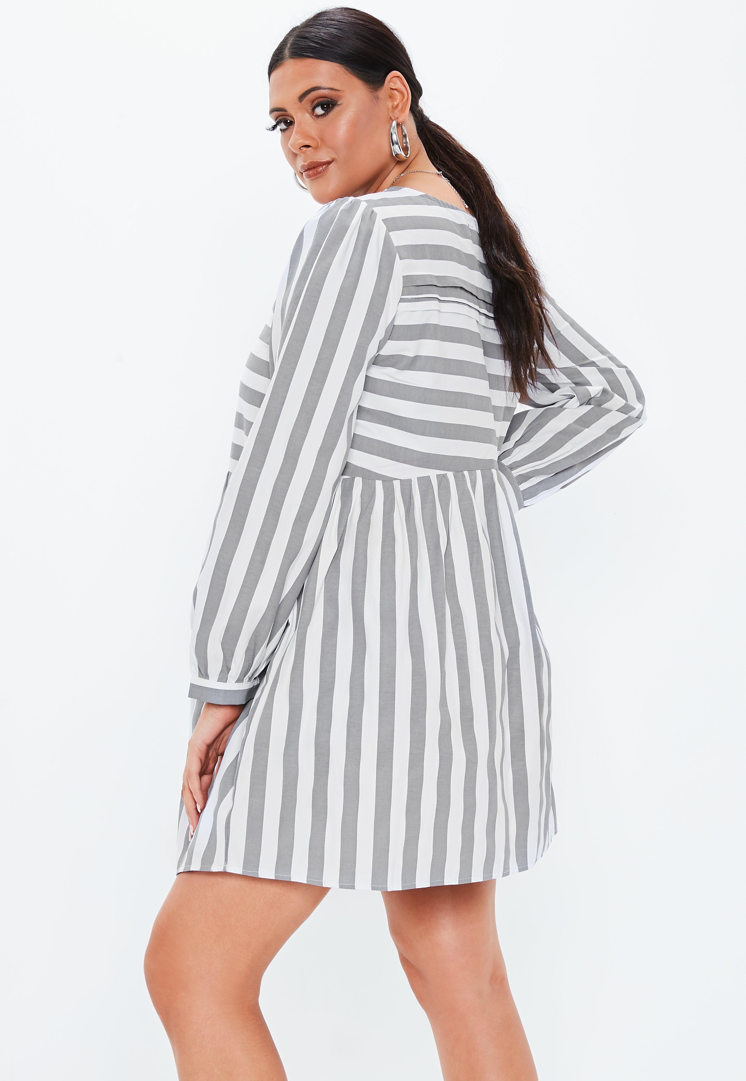 Long Sleeve Plus Size Skater Dress – DACC