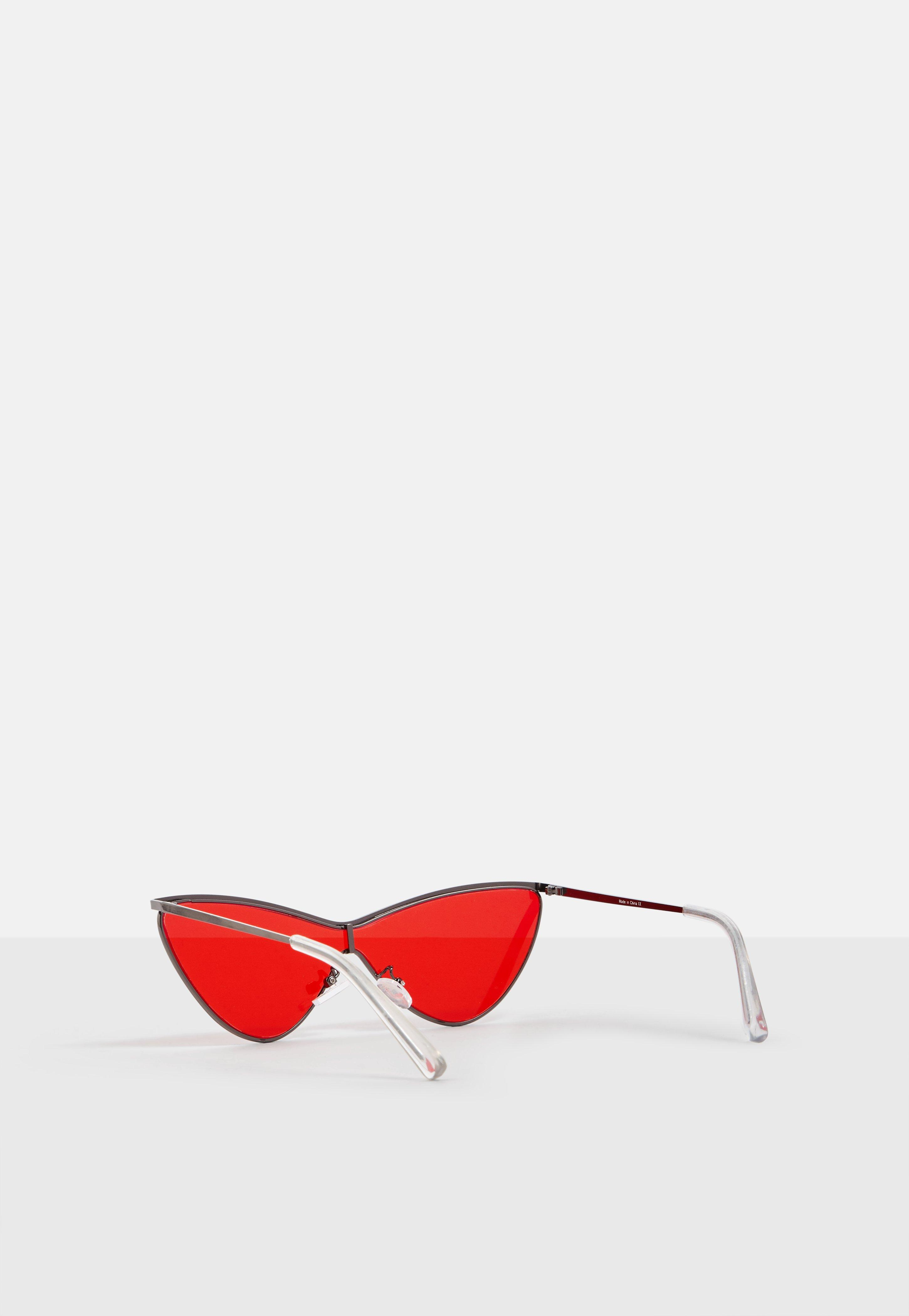 041d0fea5f Lyst - Missguided Madison Beer X Red Tinted Cat Eye Sunglasses in Red