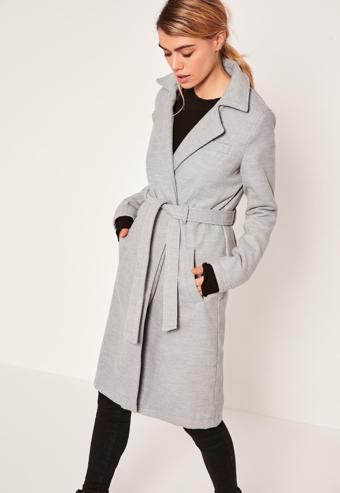 Grey trench coat women