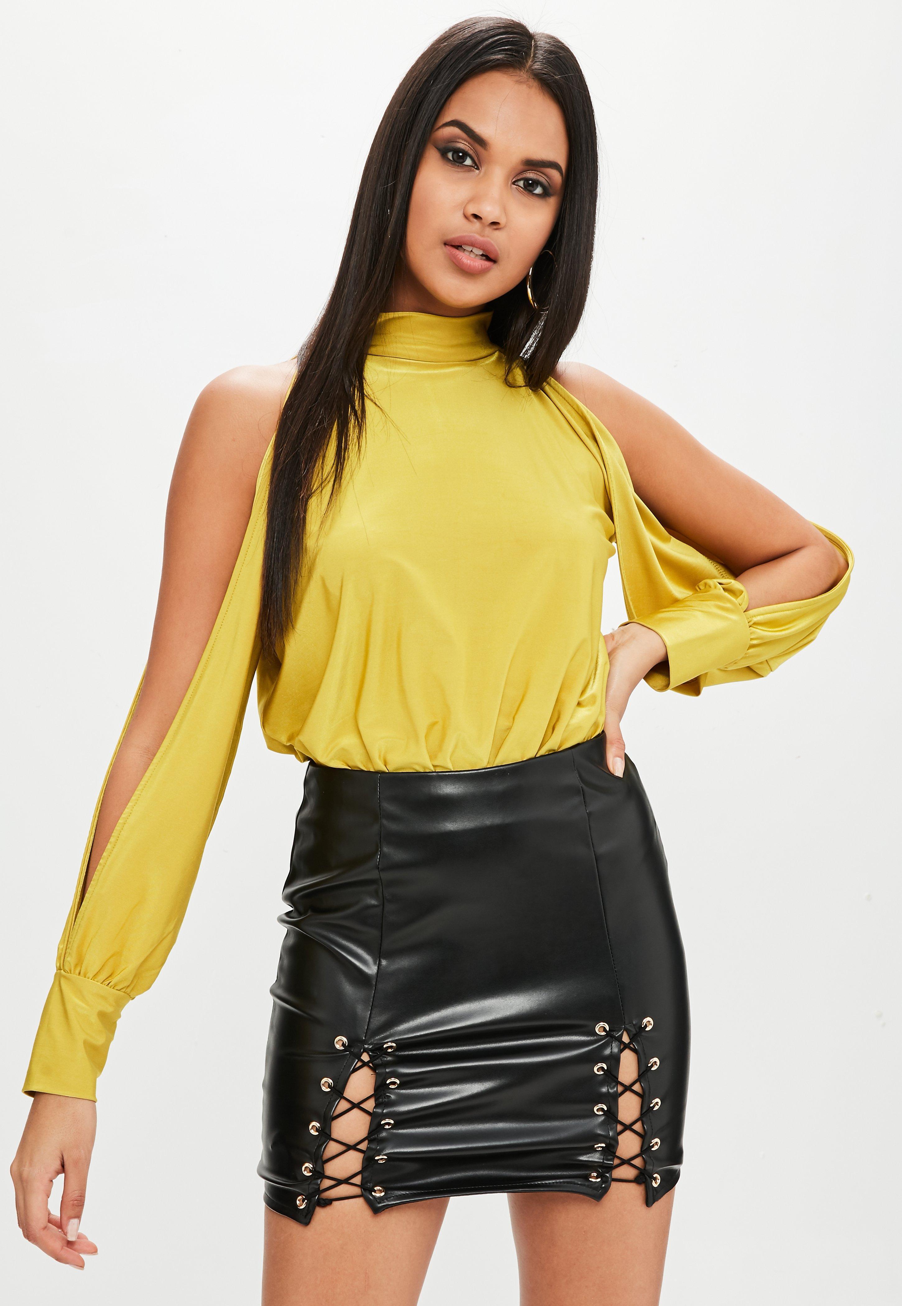 e961ceaa8 Missguided Faux Leather Mini Skirt Black | Saddha
